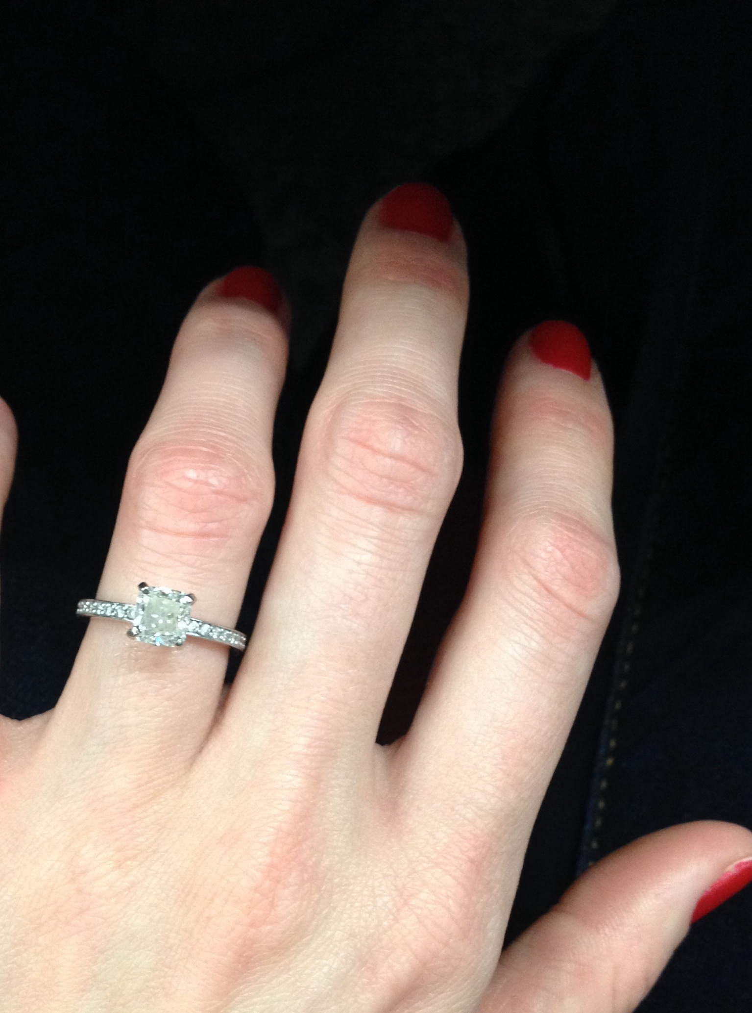 Cushion Cut Diamond Solitaire With Thin Micropave Band