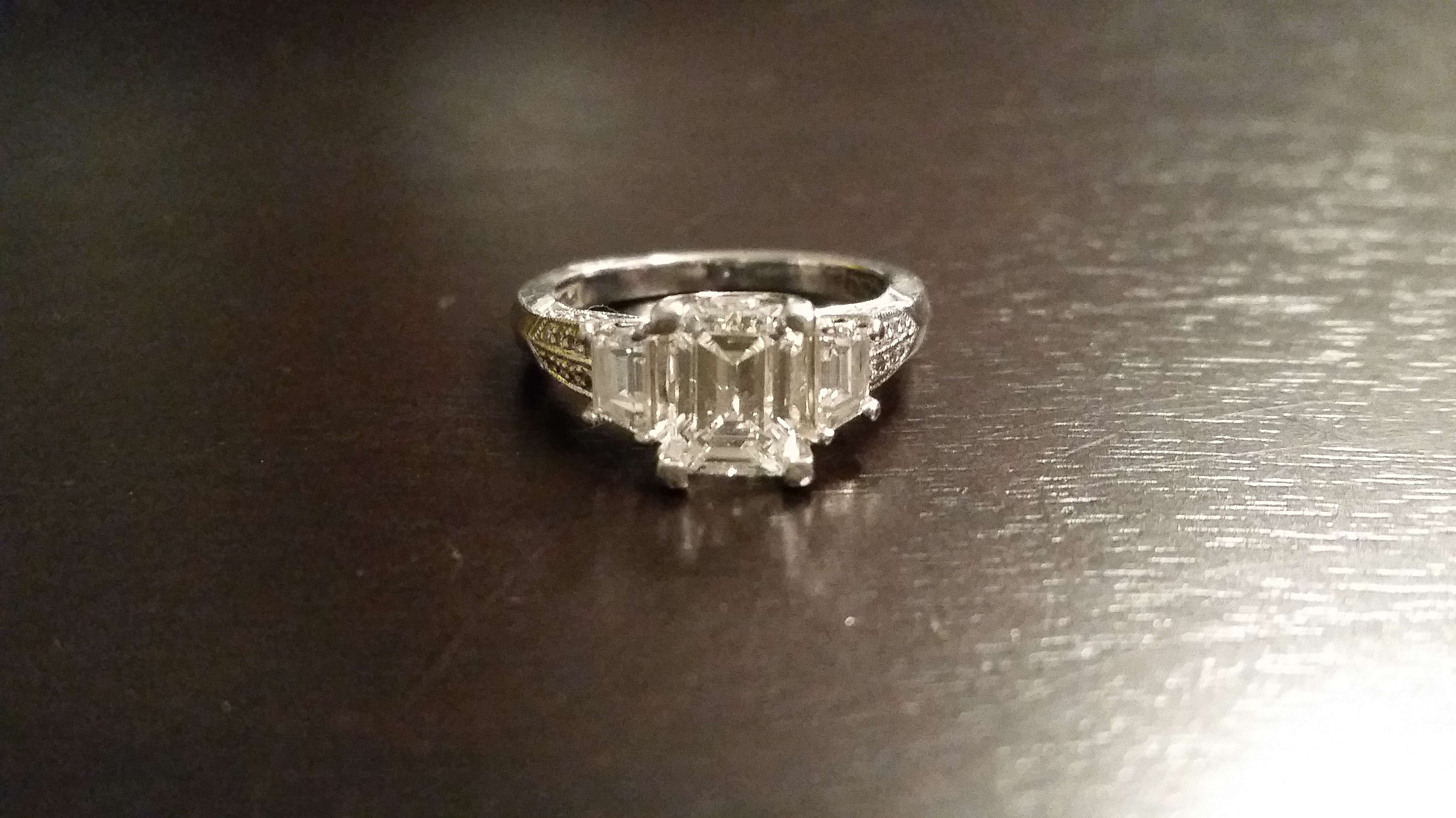 Emerald Cut Tacori Engagement Ring 1 3ct Center Stone I Do Now I Don T