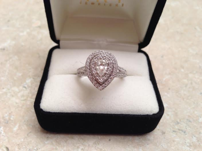 ca161c21b0f4 NEIL LANE BRIDAL RING 1 3 4 CT TW DIAMONDS 14K WHITE GOLD