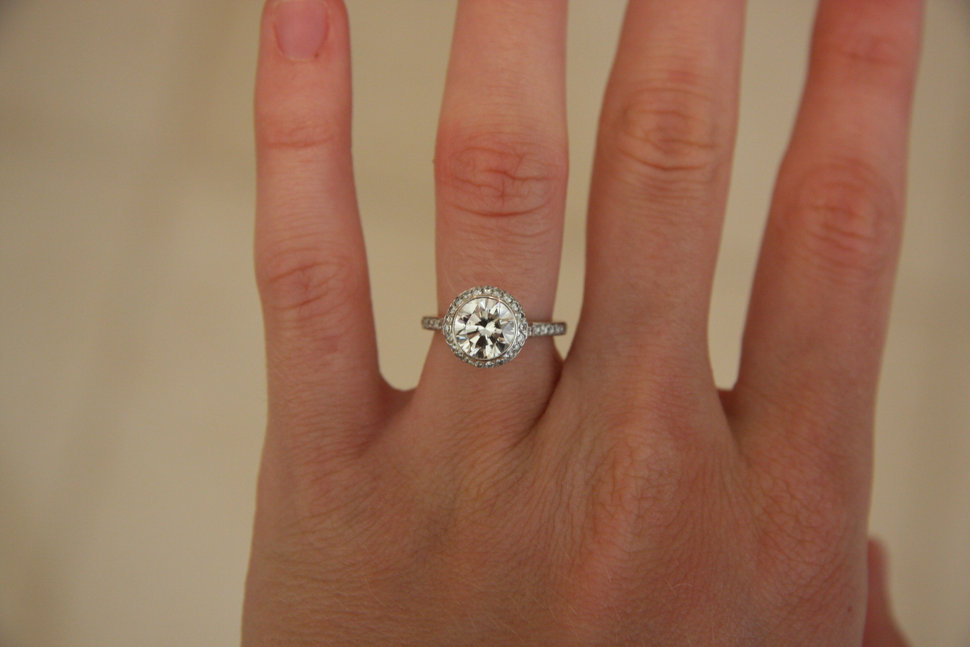 Engagement Ring Round 1 65 Center Stone 51 Carats On