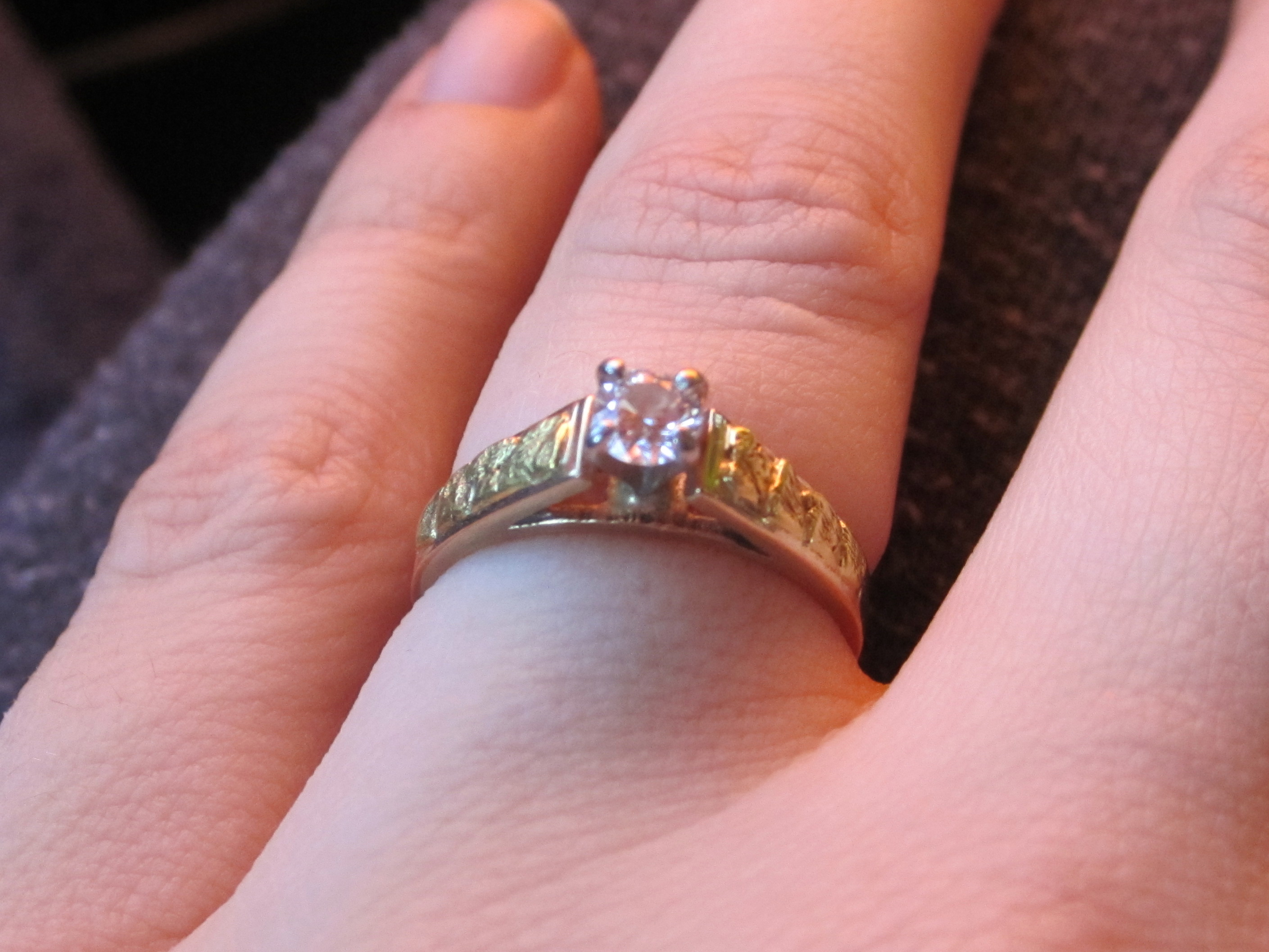 A Canadian Diamond Ring with Yukon Gold Nuggets | I Do Now I Don\'t