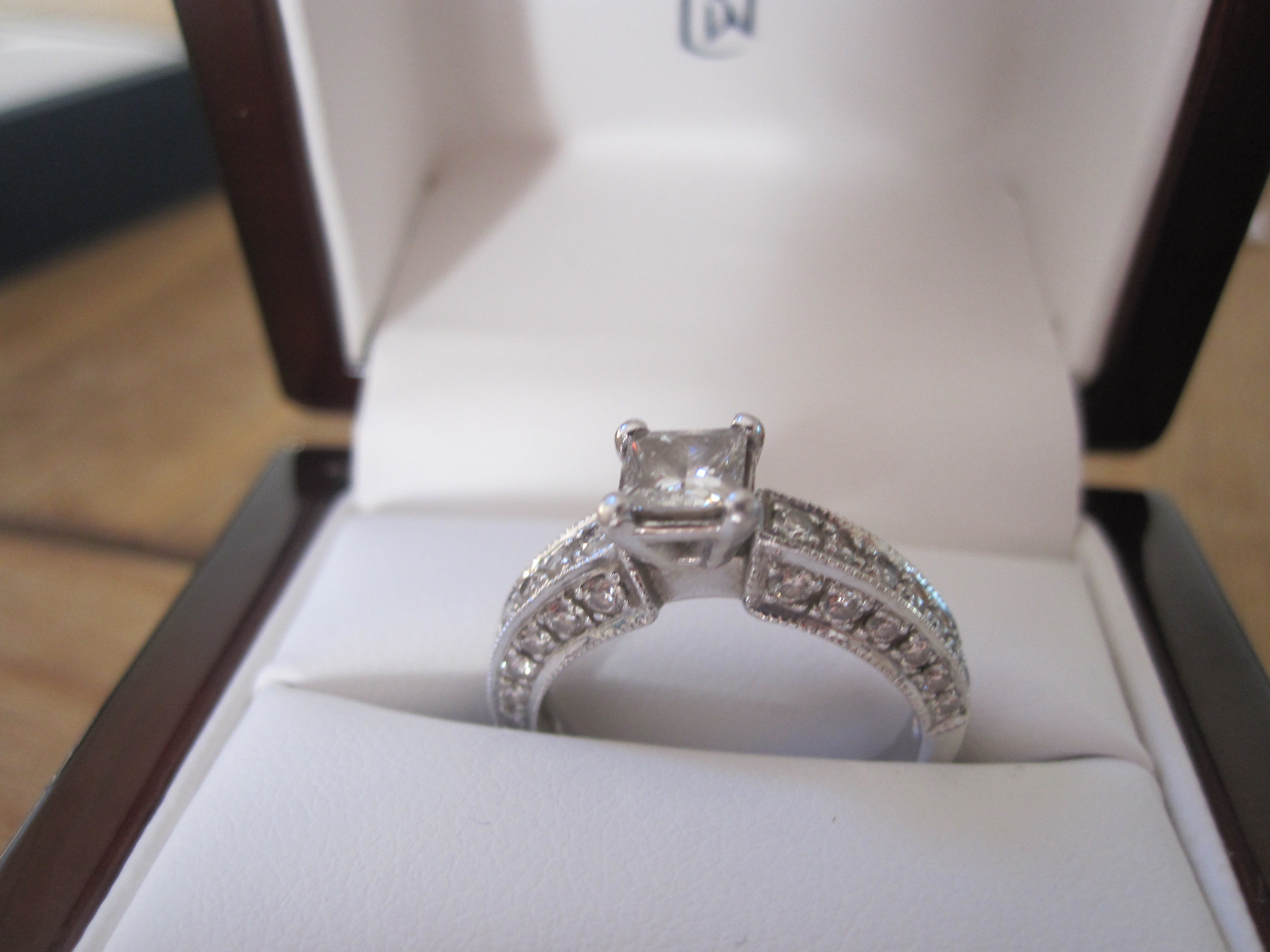 Heirloom Pave Diamond Engagement Ring Matching Band From Blue Nile