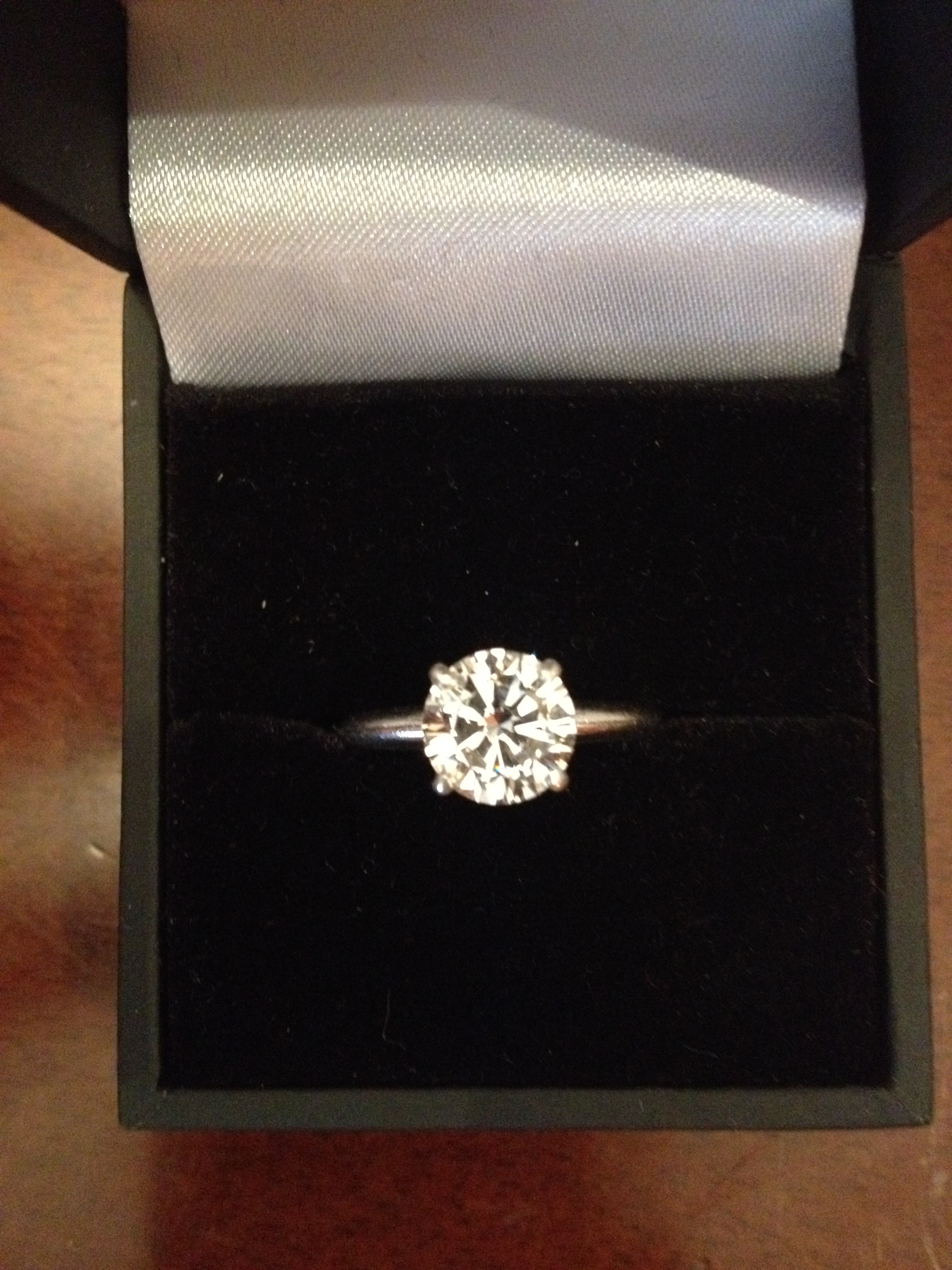 1 5 Carat Diamond Solitaire Engagement Ring Platinum