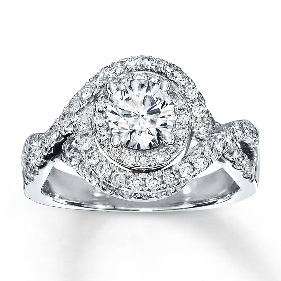 07caed137 Diamond Engagement Ring 1 15 ct tw Round-cut 14K White Gold | I Do ...