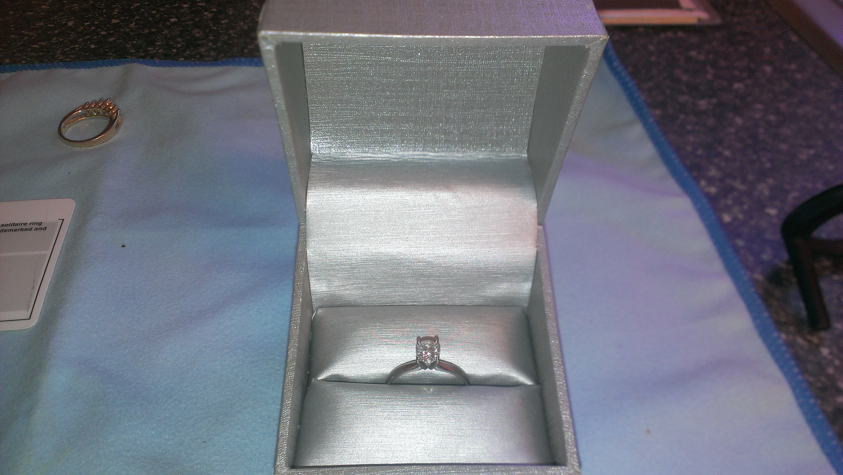 65 Carot White Gold Solitaire I Do Now I Don T
