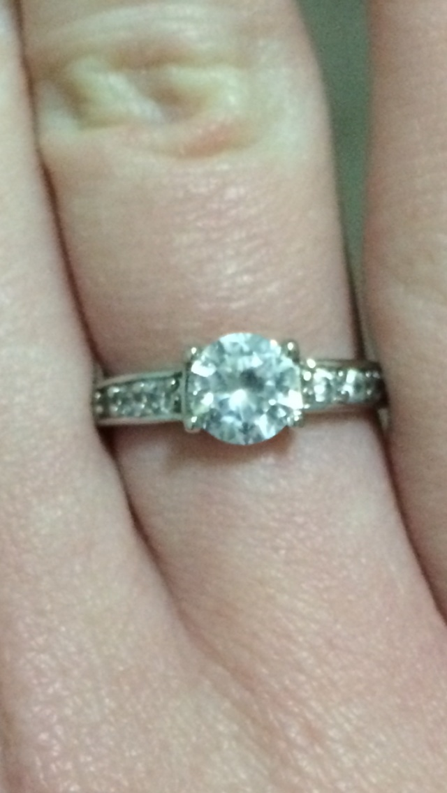 afb5a9afa ... GOLD FILLED SWAROVSKI CRYSTAL ENGAGEMENT RING SIZE 5! NEW UNIQUE 18K  WHITE