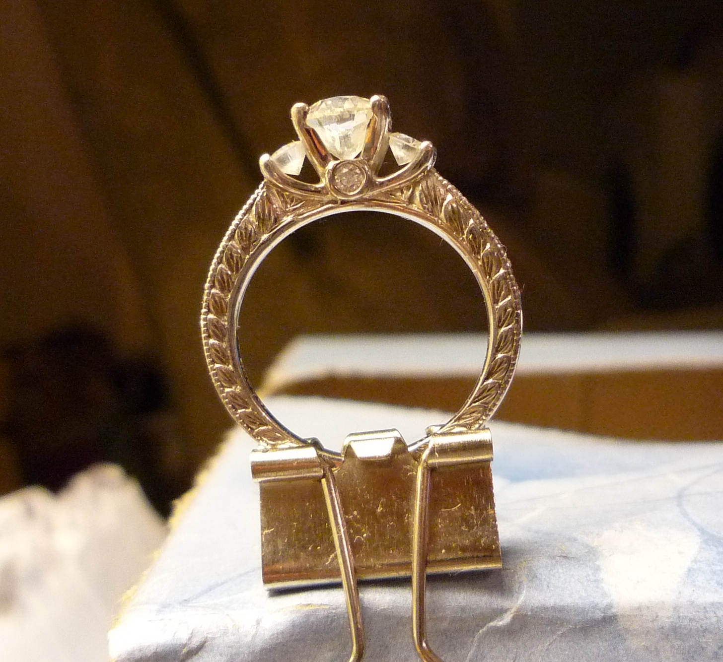 bf1326237 1.4 ctw Scott Kay Crown Engagement Ring   I Do Now I Don't
