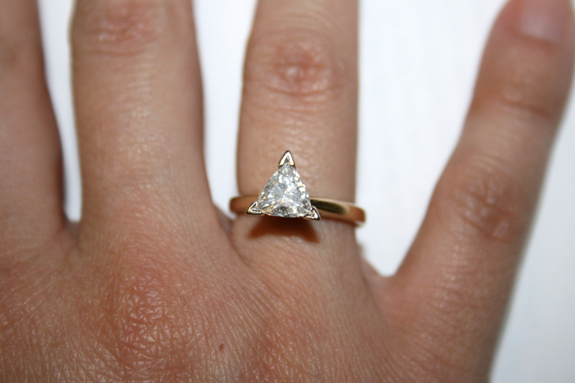 1 Ct Trillion Diamond Solitaire Engagement Ring I Do Now I Don T