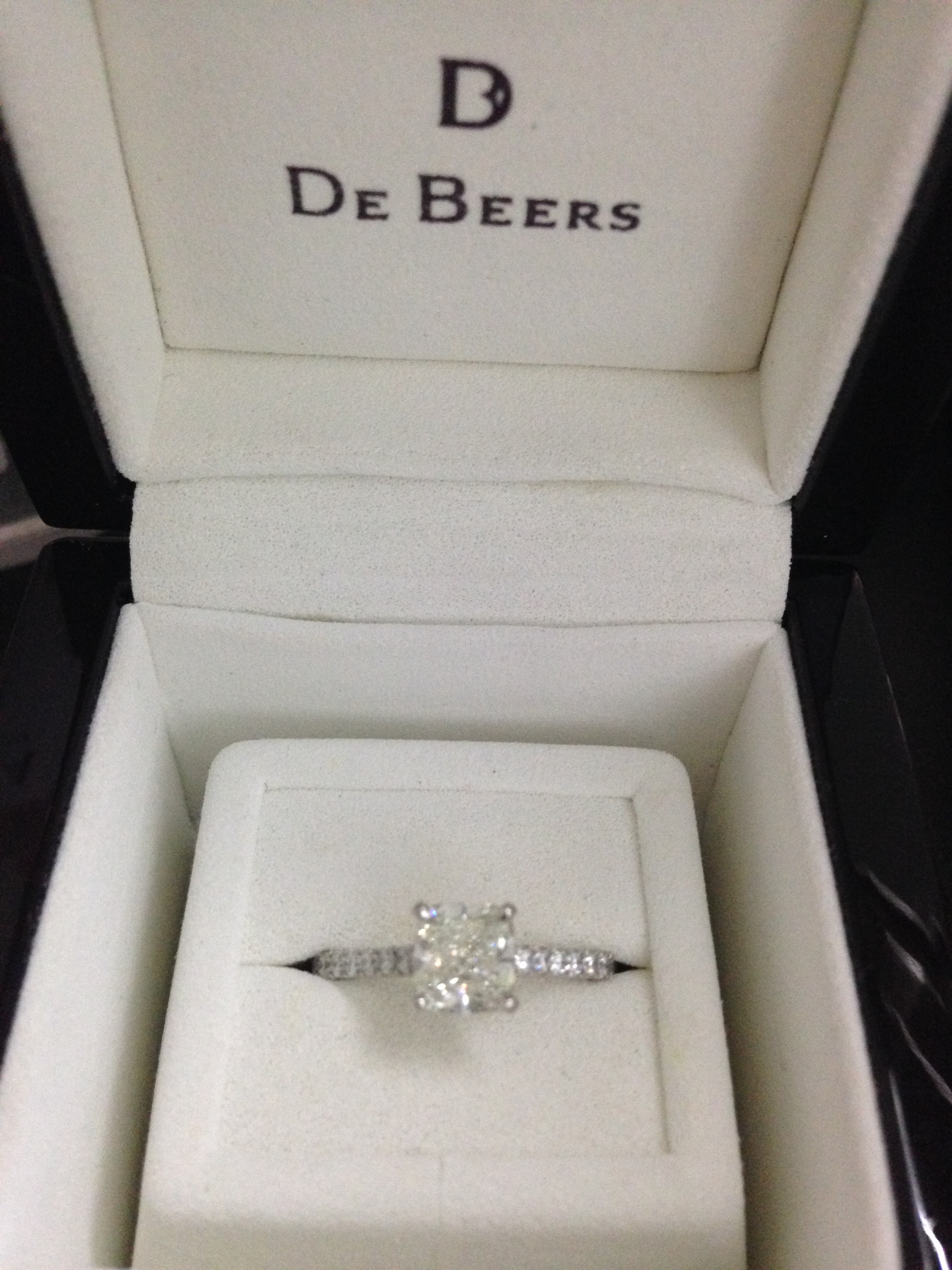 c99454160735 De Beers Classic Pave Solitaire Ring