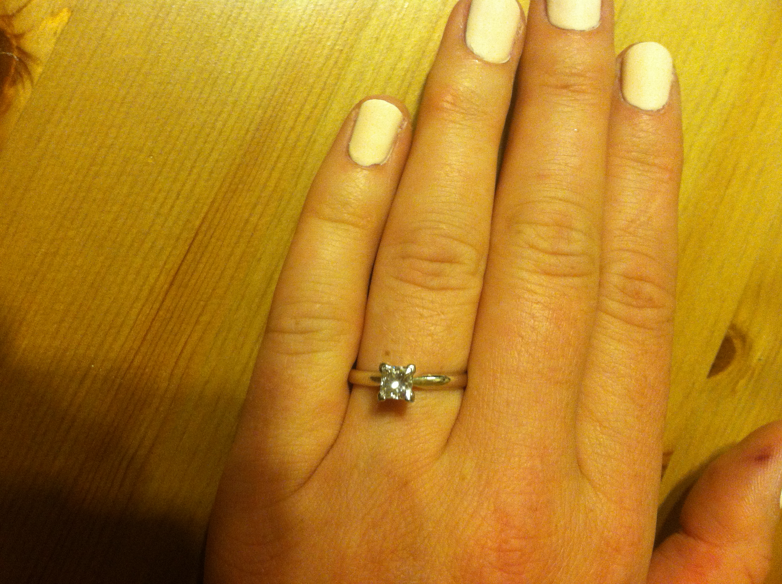72 Carat Size 7 14 Carat White Gold Solitaire Princess Cut Diamond Engagement Ring I Do Now I Don T