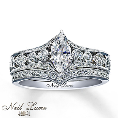 10c3dc642 Neil Lane Bridal 7/8 ct tw Diamonds 14K White Gold Set | I Do Now I ...