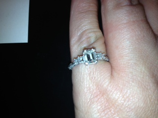 Ladies Tacori Platinum Engagement Ring With 82 Carat Emerald Cut Diamond Size 5 75 I Do Now I Don T