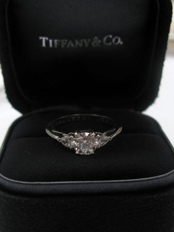 0b356218d ... Round & Pear Diamond Engagement Ring I-VS2. Tiffany & Co PLAT. Tiffany  & Co PLAT. Tiffany & Co PLAT