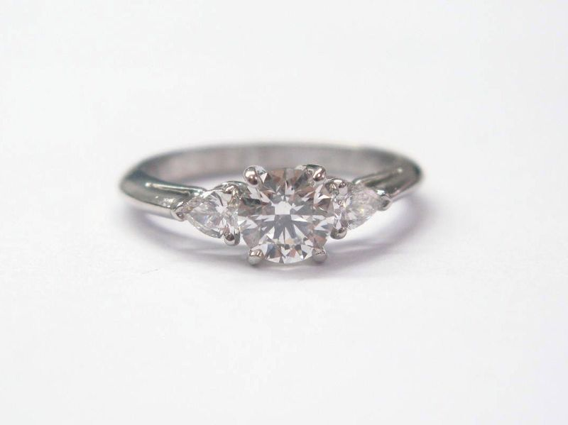 b758d2b2a Tiffany & Co PLAT Round & Pear Diamond Engagement Ring I-VS2 | I Do ...