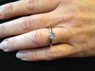 8de83b54078 Tiffany   Co. platinum diamond engagement ring