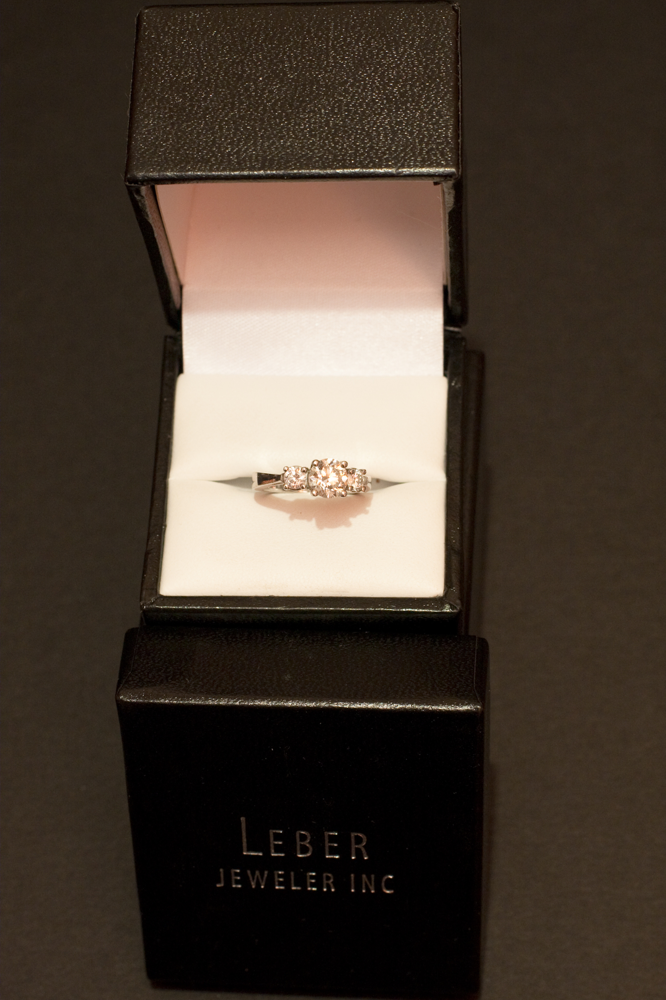 Custom 3 stone engagement