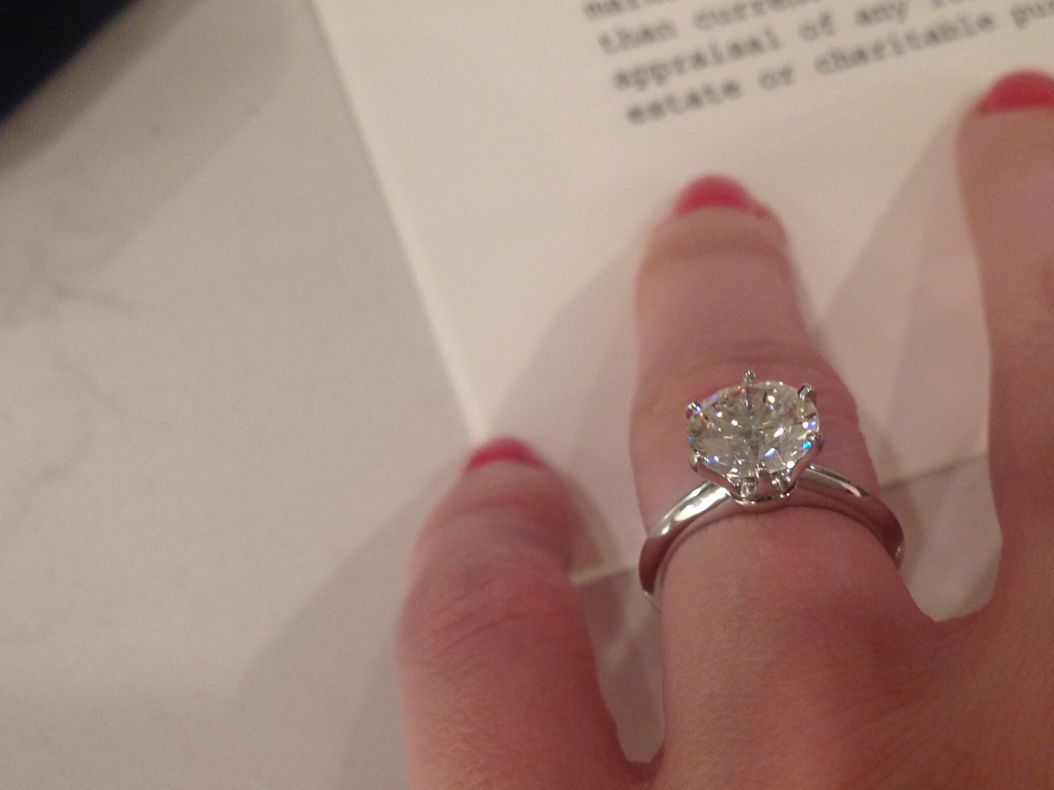 2 17 Carat Tiffany Solitaire 48 500k Stunning I Do Now I Don T
