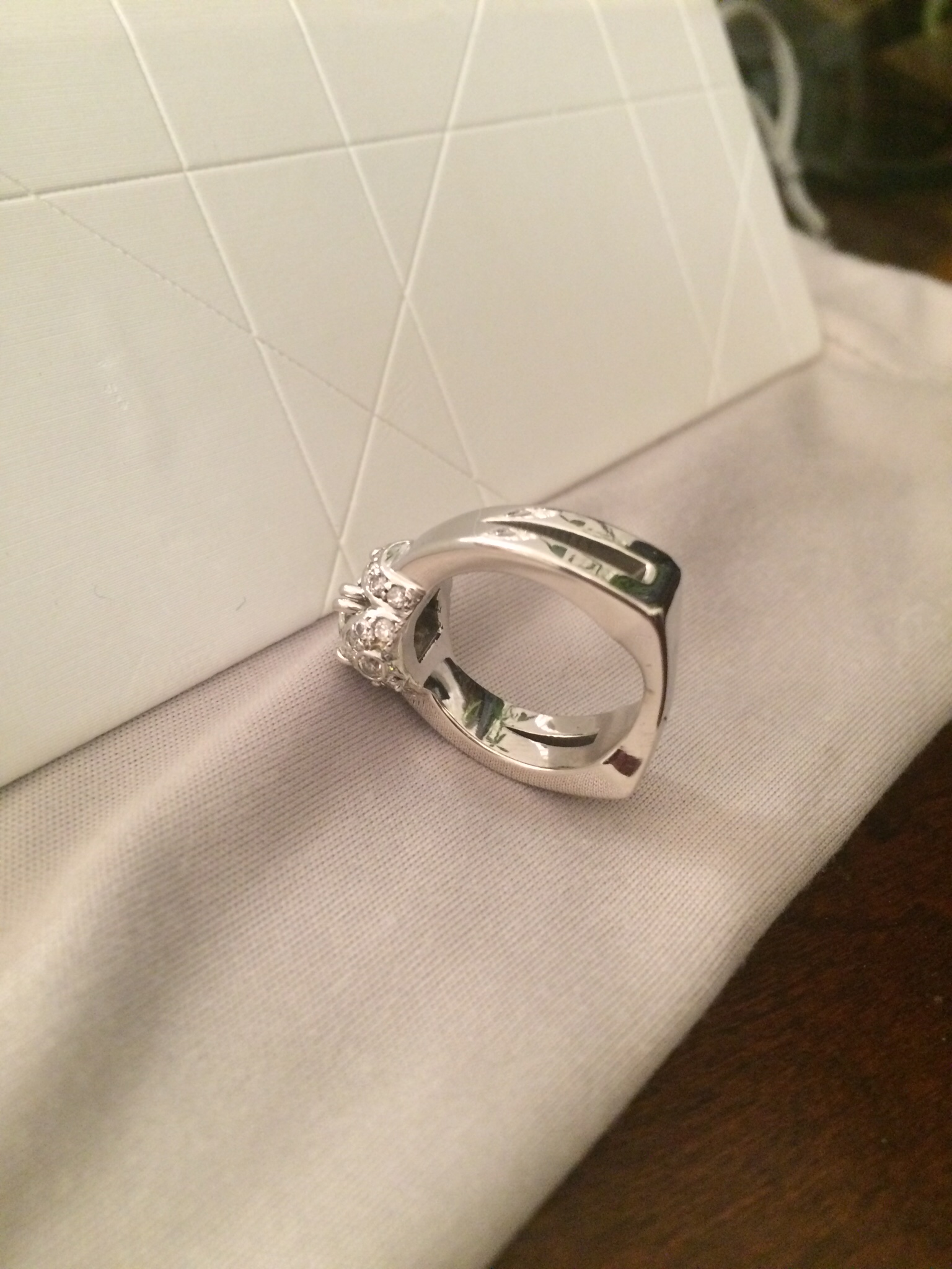 Radiant Diamond Engagement Ring - Victorian and Art Deco, Modern, too:  classic, chic, sophisticated