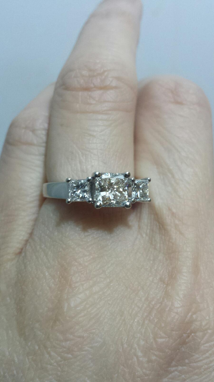 3 stone Radiant engagement