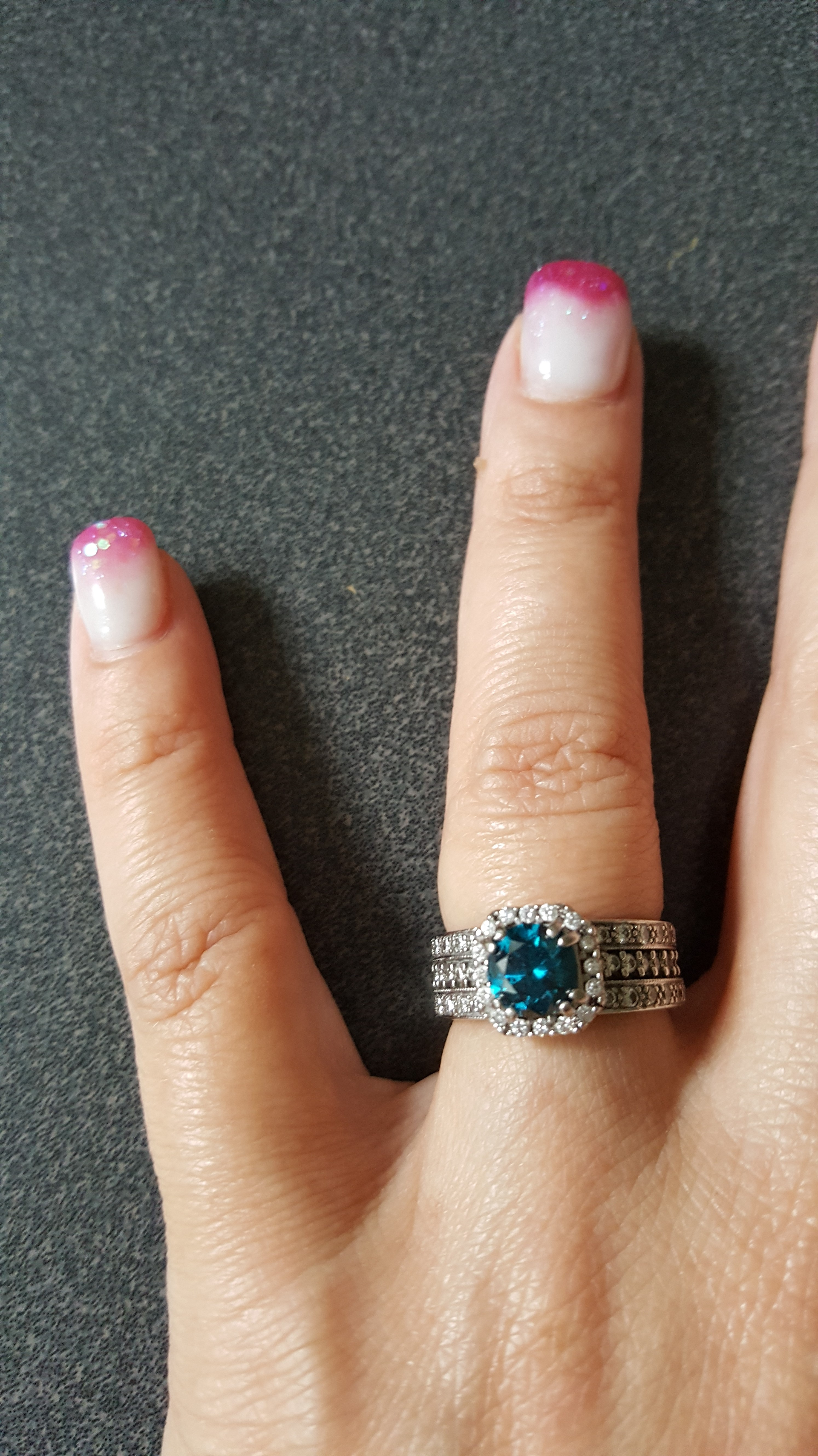 Brilliant Blue Diamond engagement