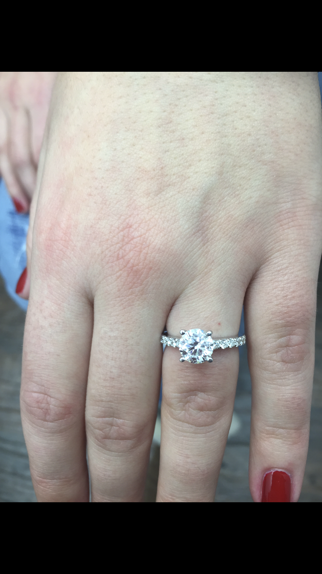 Outstanding engagement ring.