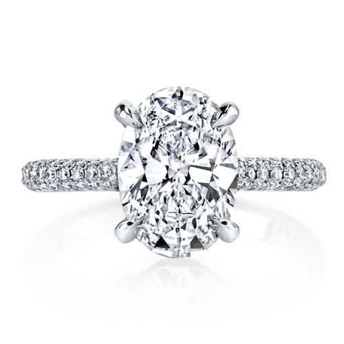 3.27CT OVAL PAVE DIAMOND