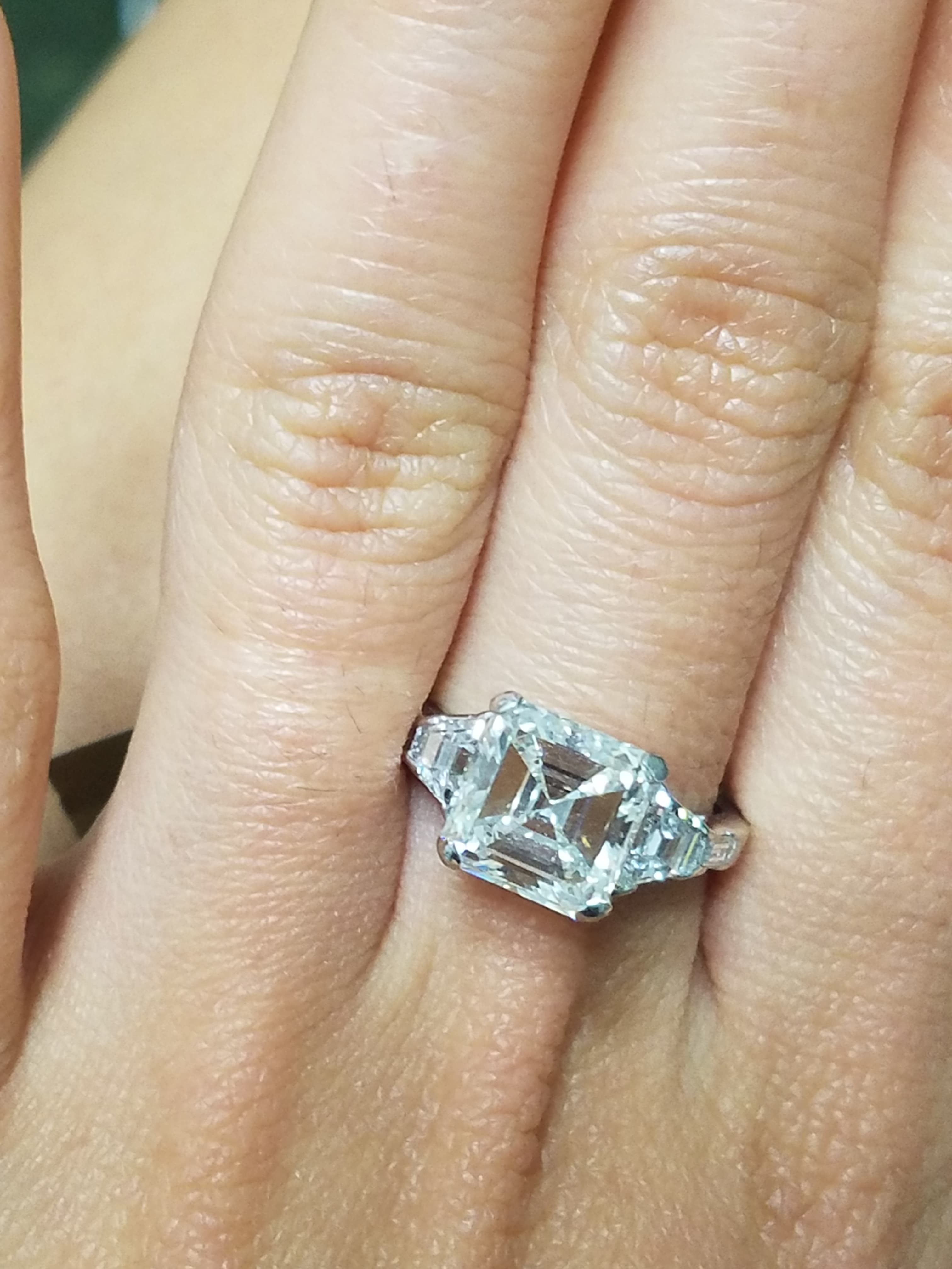 3 Carat Square Emerald Cut Diamond Engagement Ring Gia Certified In Platinum I Do Now I Don T