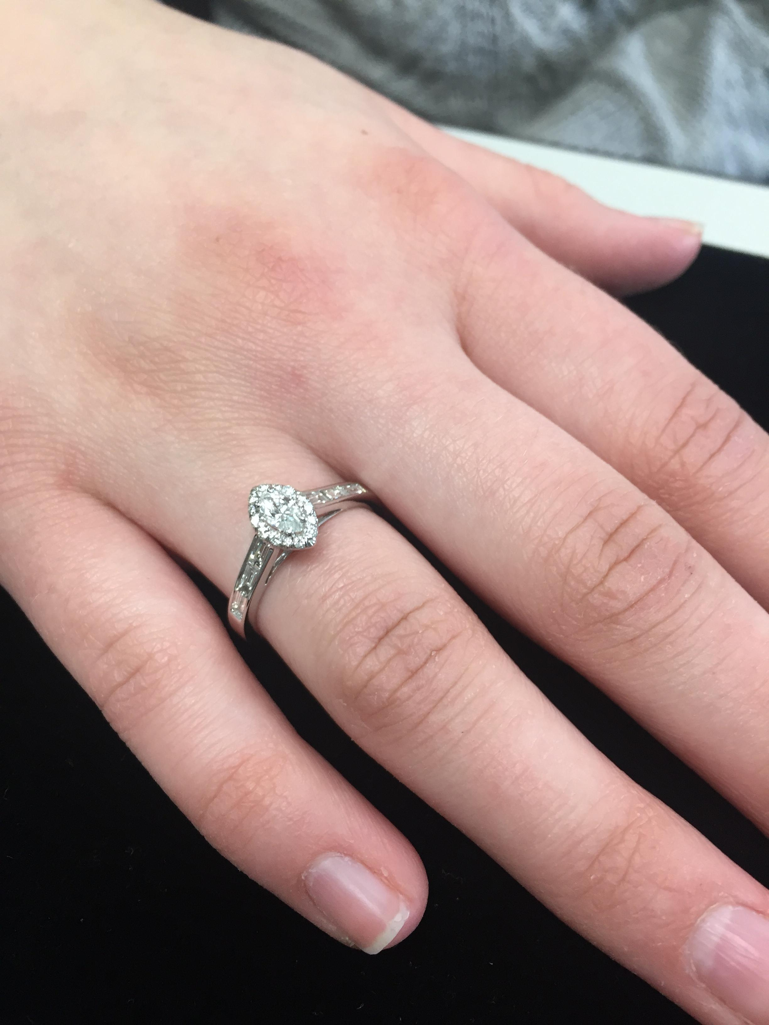 Dainty Diamond Ring for engagement or Sweet 16 gift | I Do Now I Don\'t