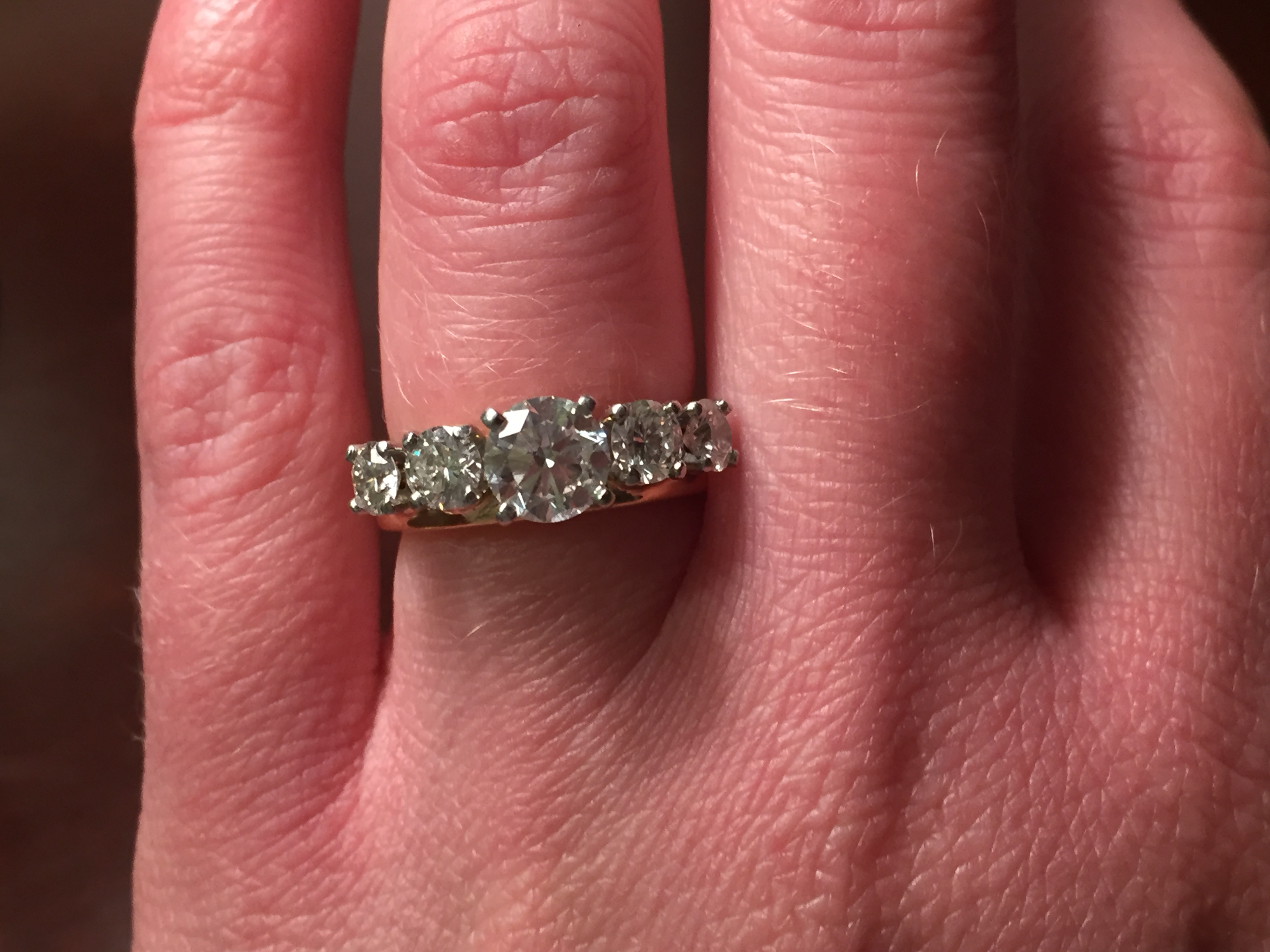 Blue Nile 2.06 carat round solitaire with custom wrap and channel ...