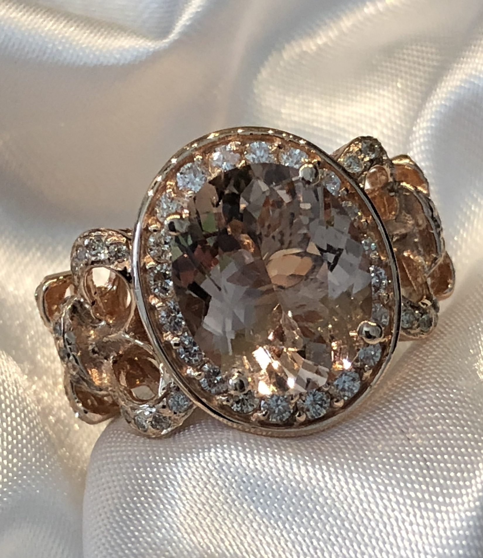 Diamond and Morganite in