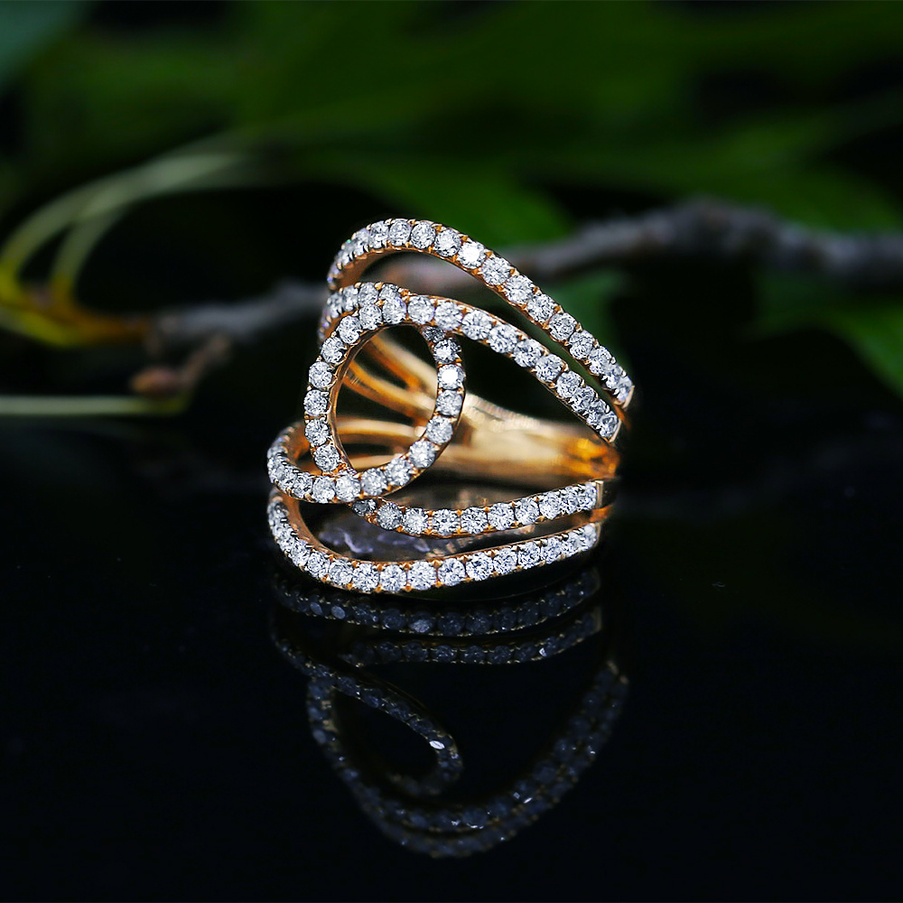 Rose Gold Cocktail Diamond