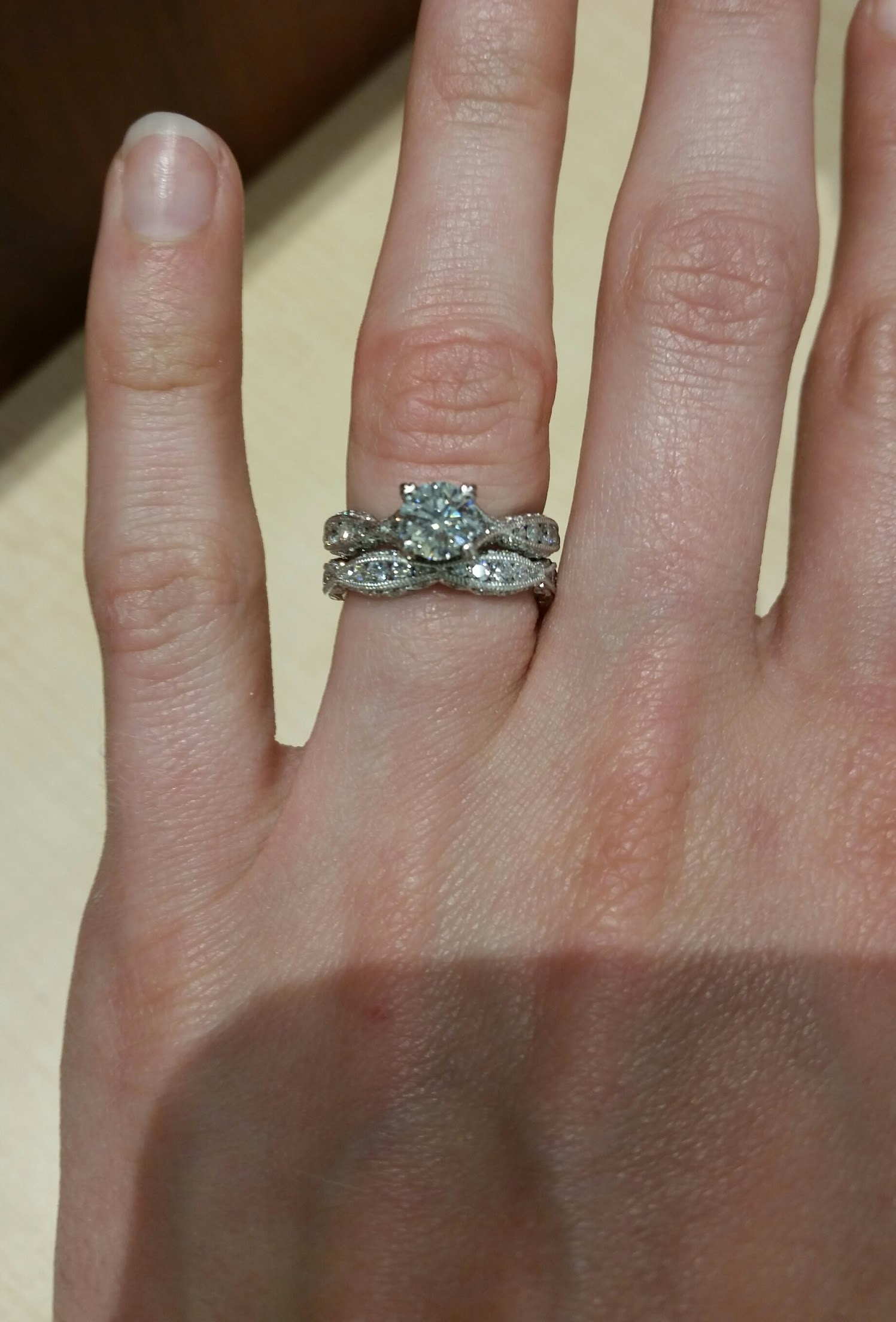 3f1907a27499e **PRICE REDUCED** Tacori Set: Engagement Ring and Custom Made Wedding Band!