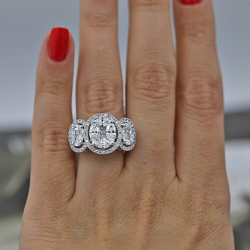 Engagement Ring with 3.12ct
