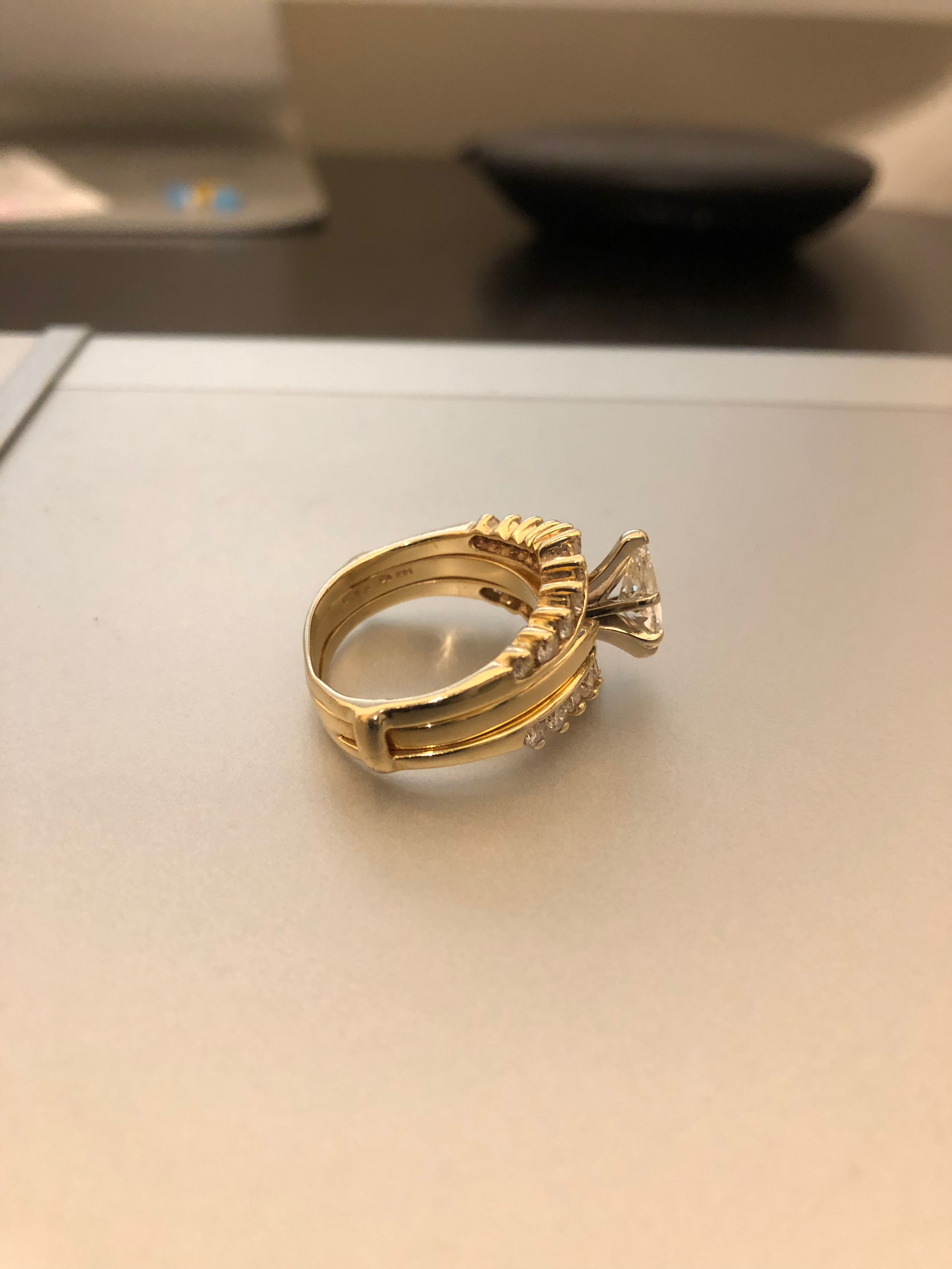 1CT Marquise with 2