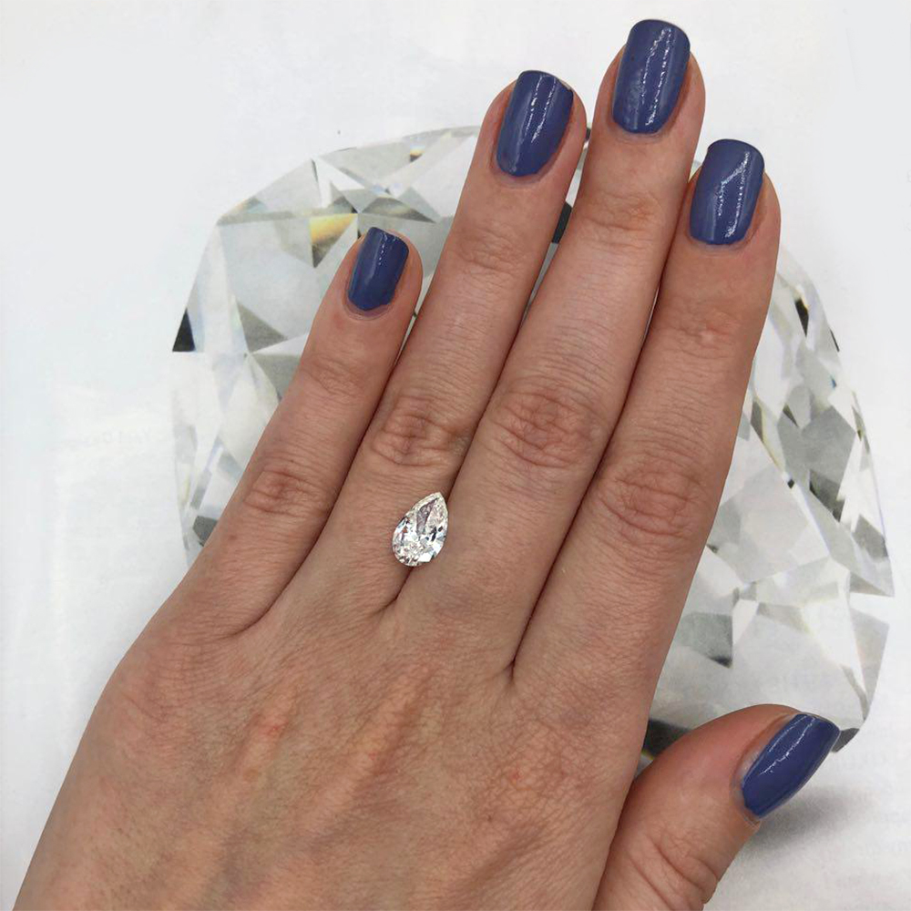 GIA certified 1.57ct PEAR