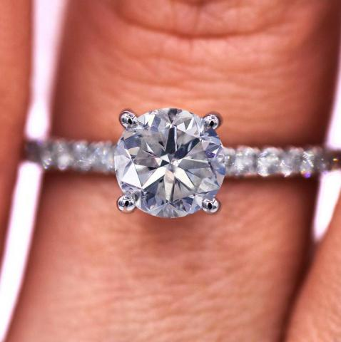 1.90 CTS diamond engagement