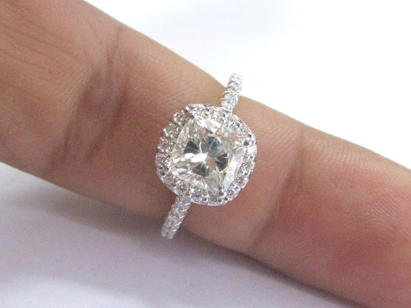 Ritani Platinum Cushion Cut