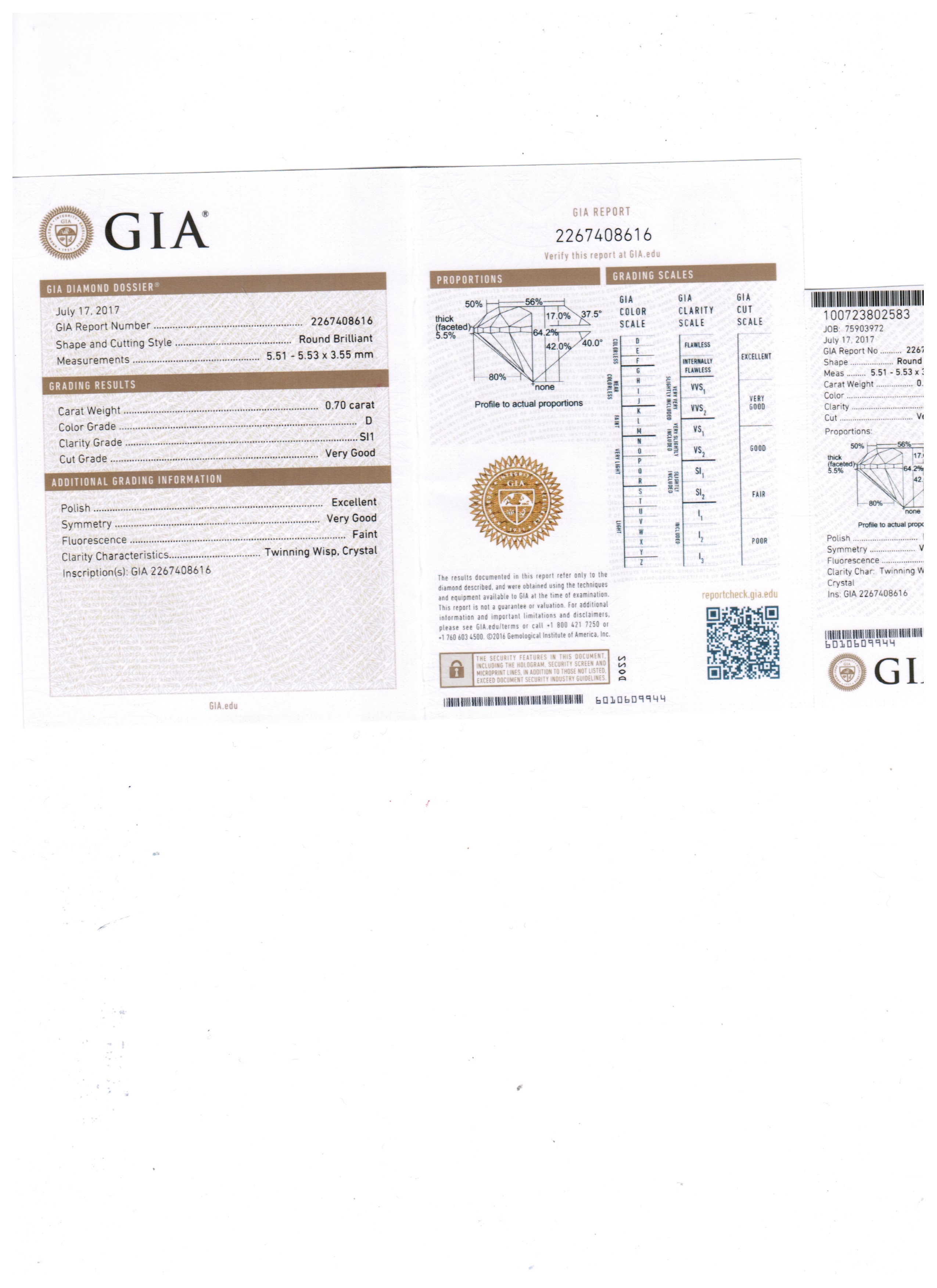 GIA Certified D Color
