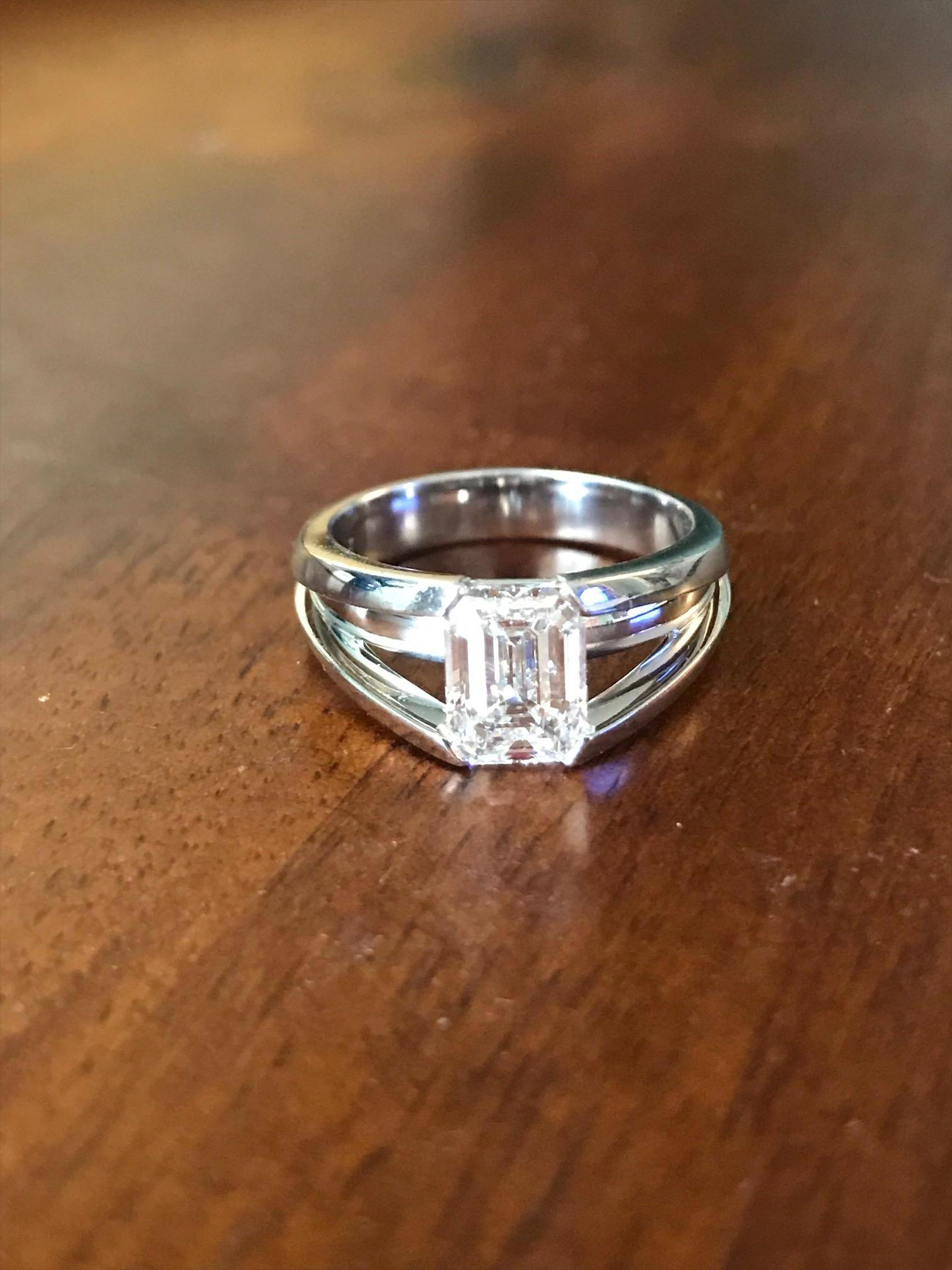 Unique Amp Modern Emerald Cut Engagement Ring I Do Now I Don T