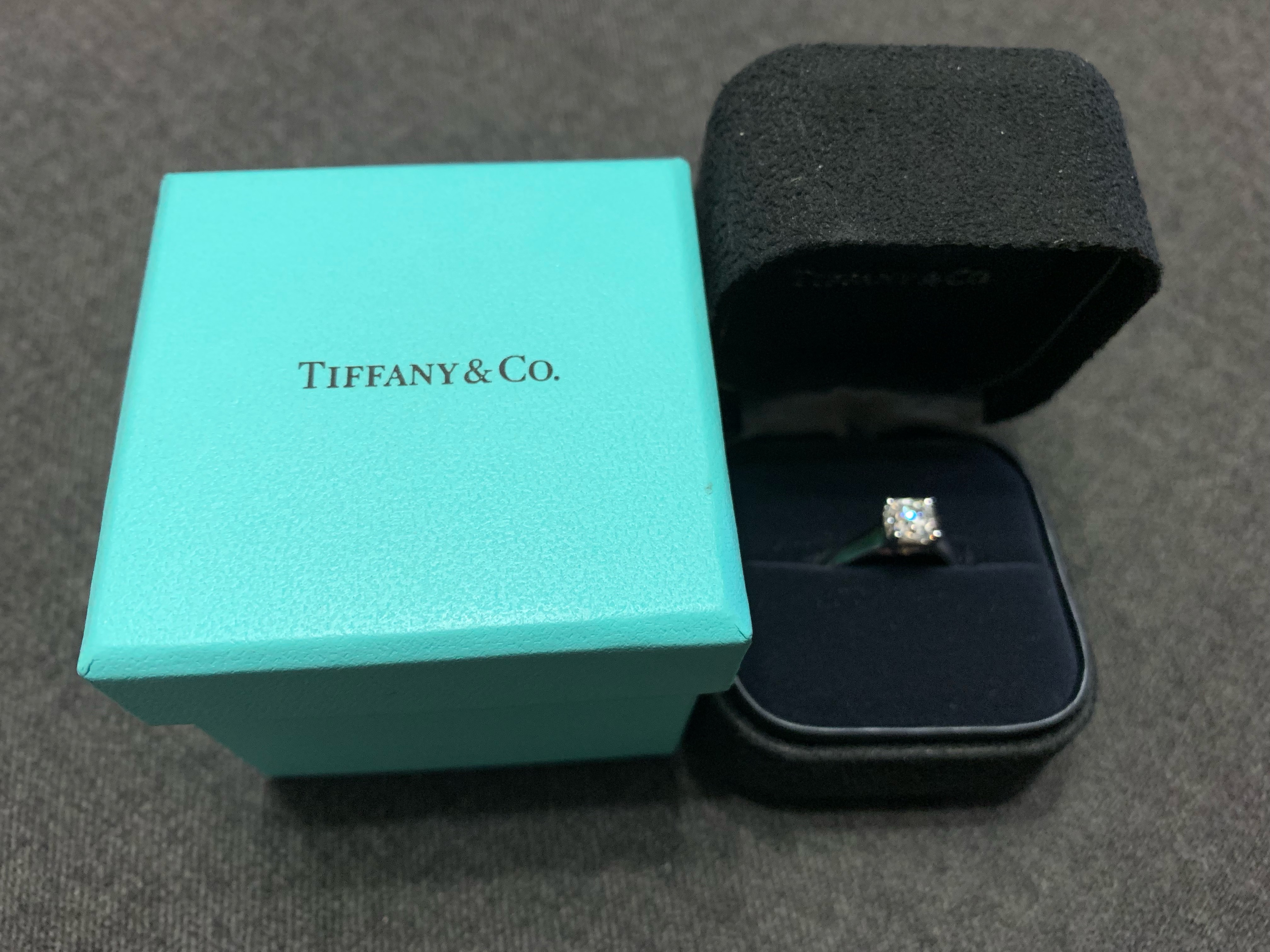 9285863a794 Tiffany   Co. diamond and platinum engagement
