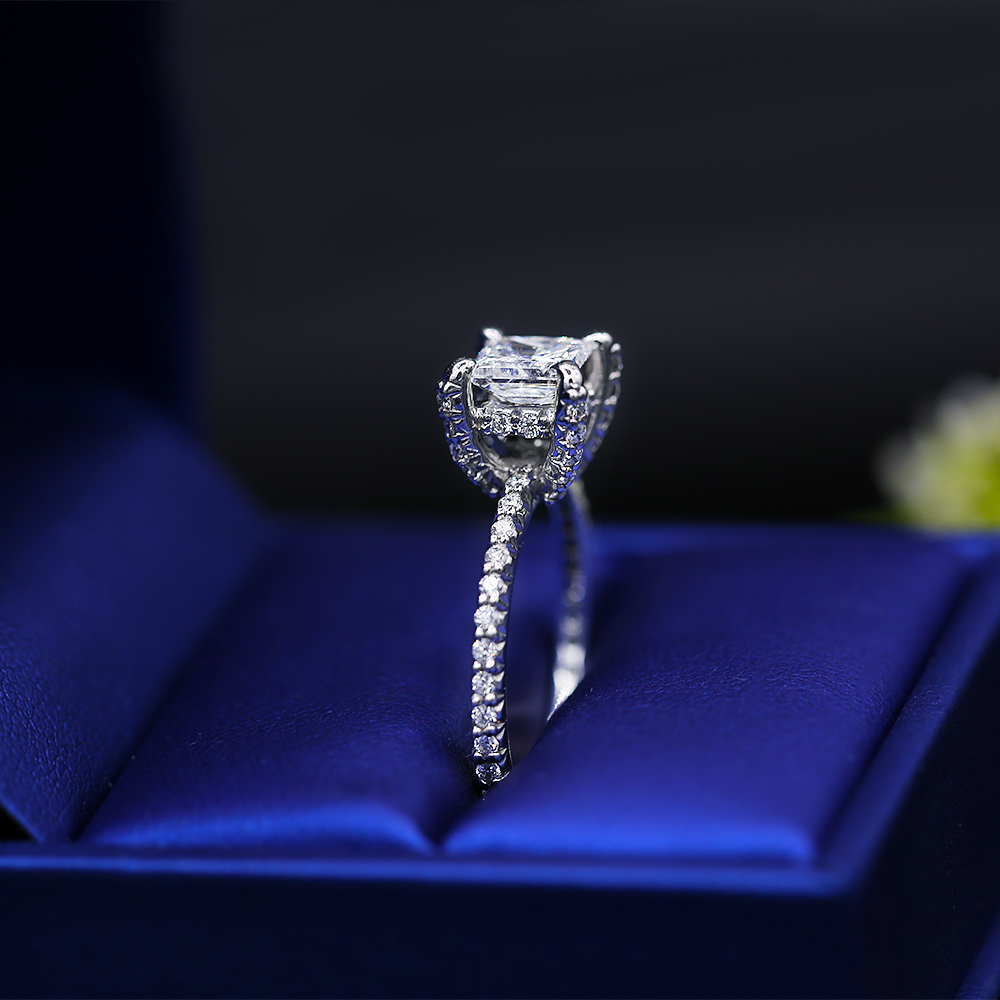 Delicate White Gold Engagement