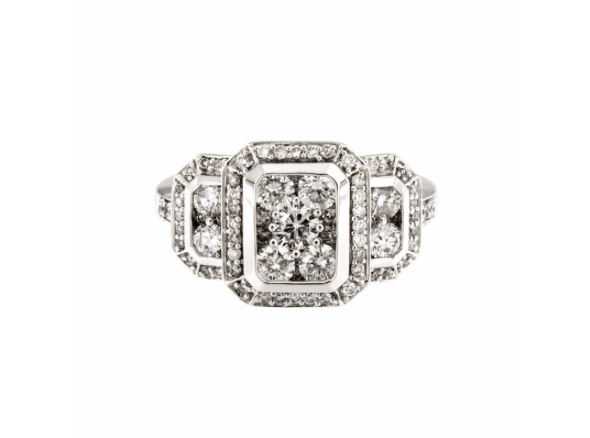 Rectangle Engagement Ring in