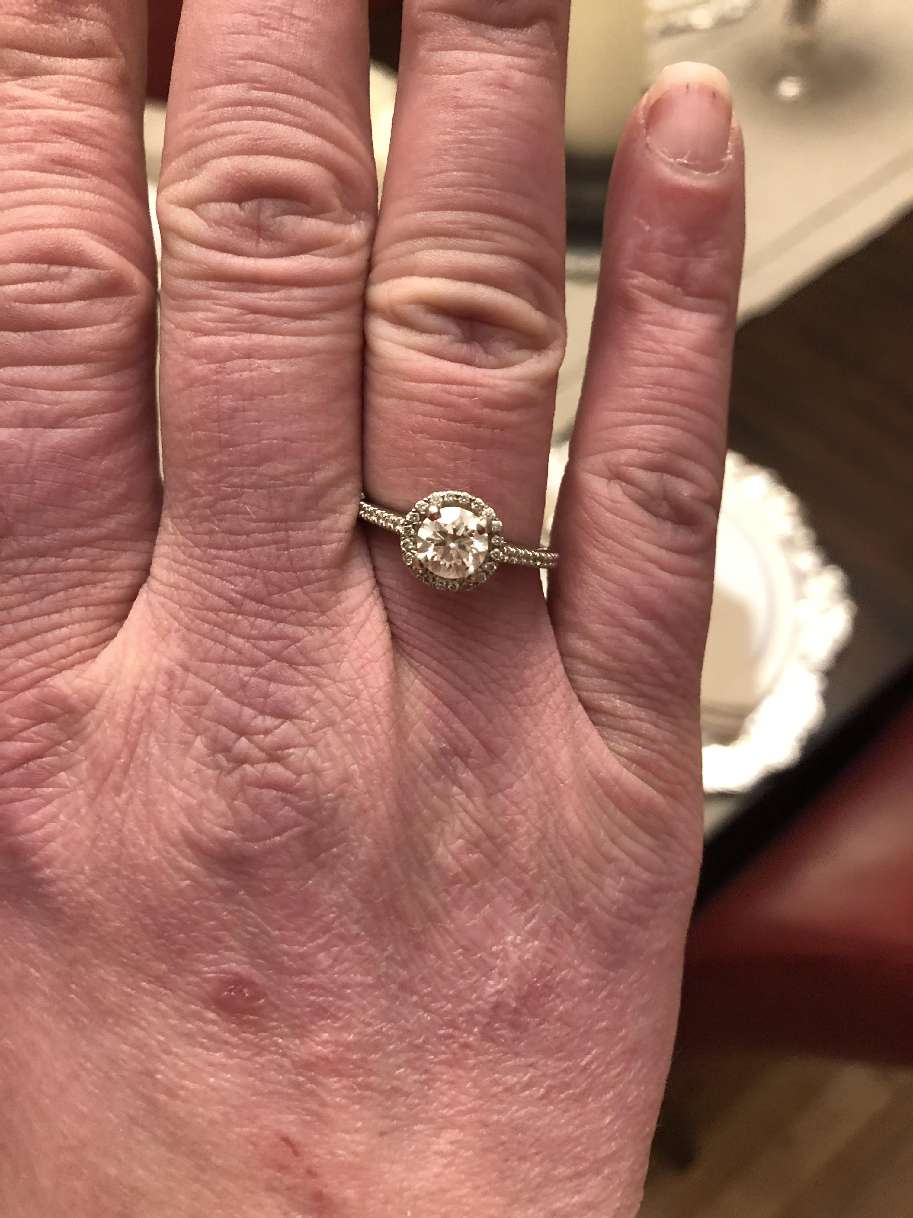1.25ctw Halo Engagement Ring