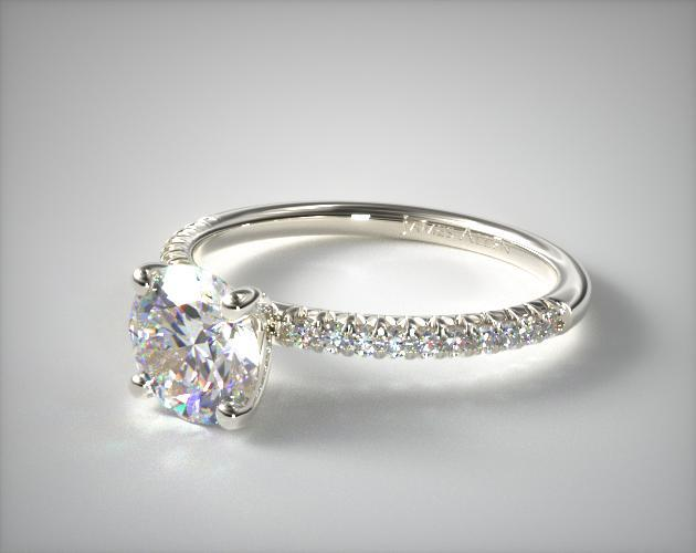a3be99e715ec4 Stunning. GIA-certified 0.80ct I VVS1 Excellent Cut Round stone + Platinum  0.14ct Petite Pave setting