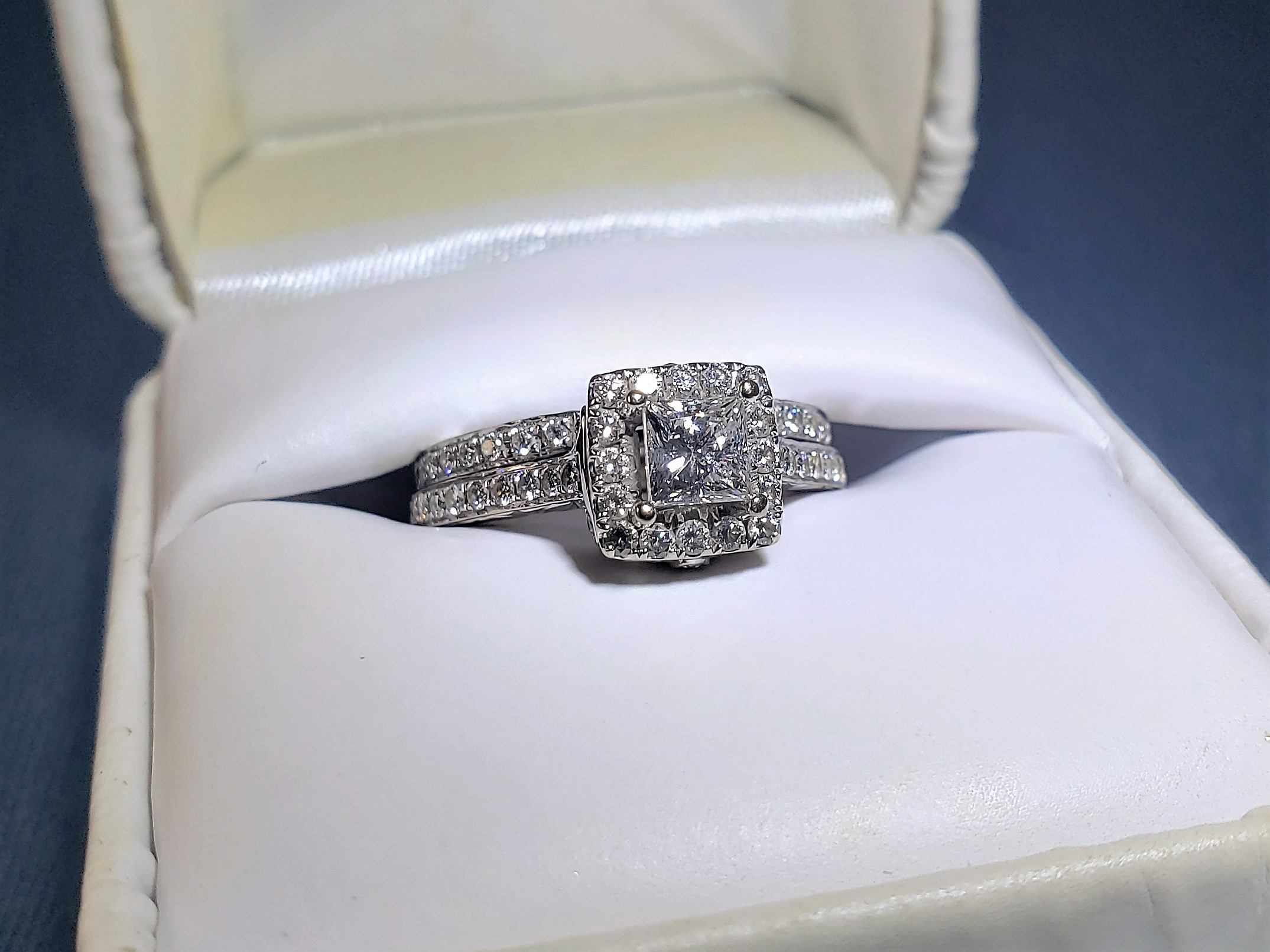Zales 18k Celebration Diamond Bridal Ring Set I Do Now I