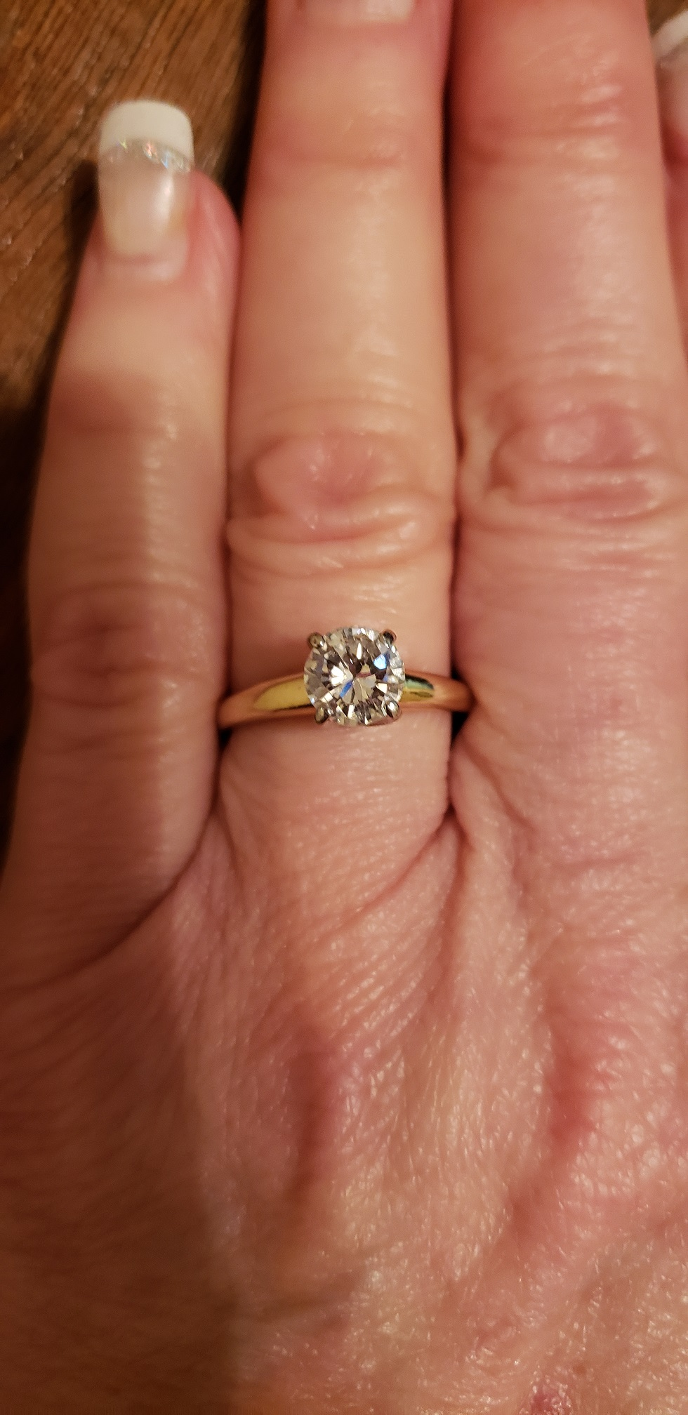 Diamond Solitaire Engagement Ring 1ct D Si1 I Do Now I Don T