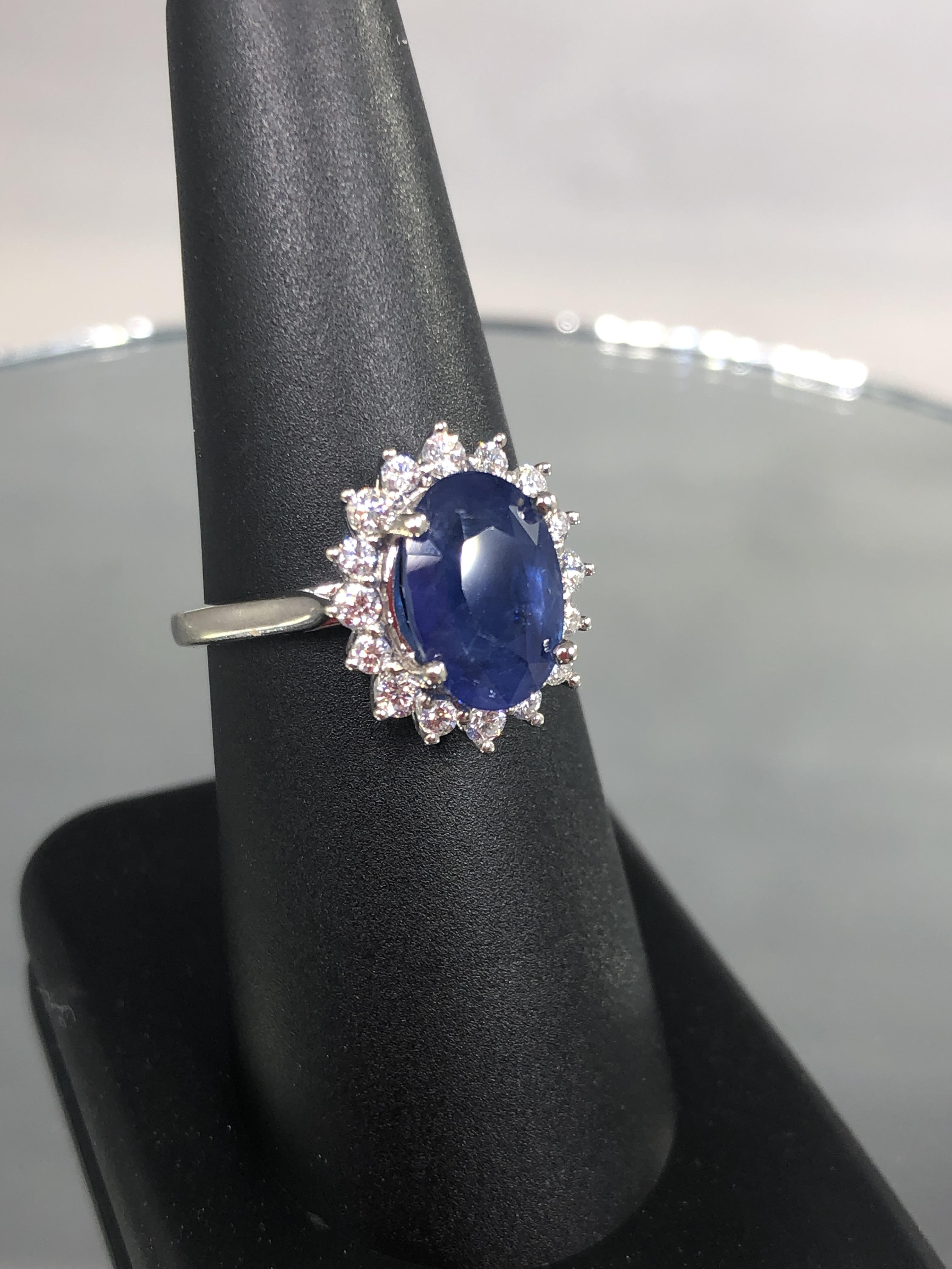 3.71 Carat Sapphire and
