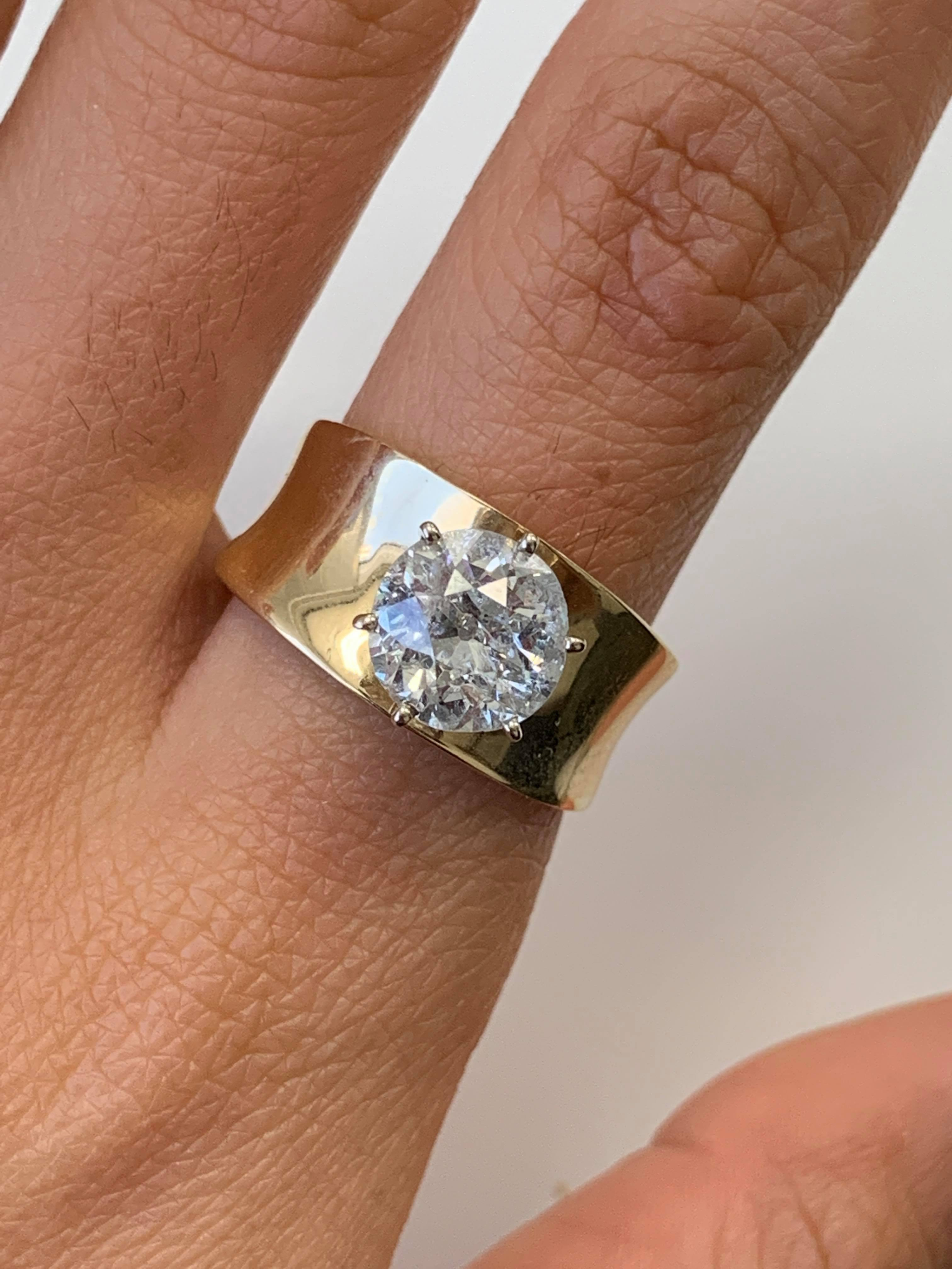 8.00 Ct Round Cut Diamond Vintage Engagement Ring 14k Yellow Gold Over