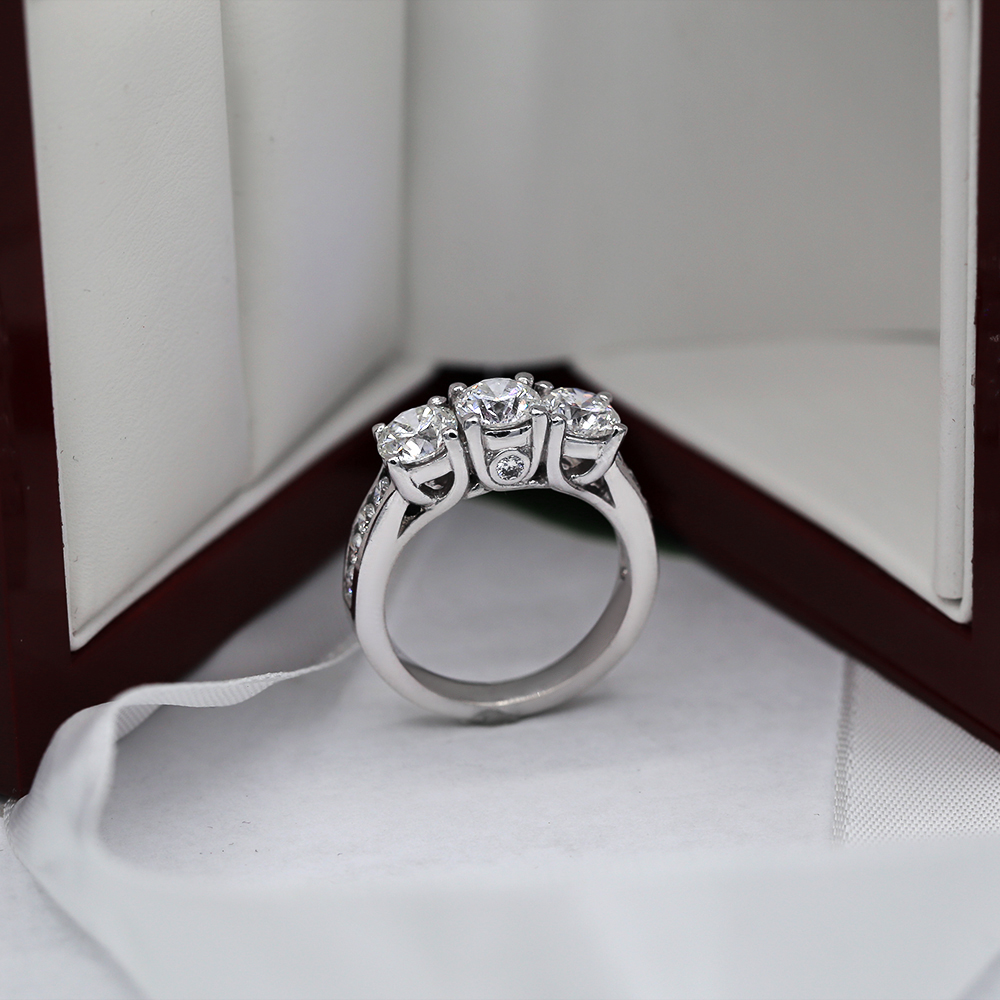 abb84f4d000 Beautiful 14k White Gold Engagement Ring featured with 3.00ct TCW Natural  Diamonds