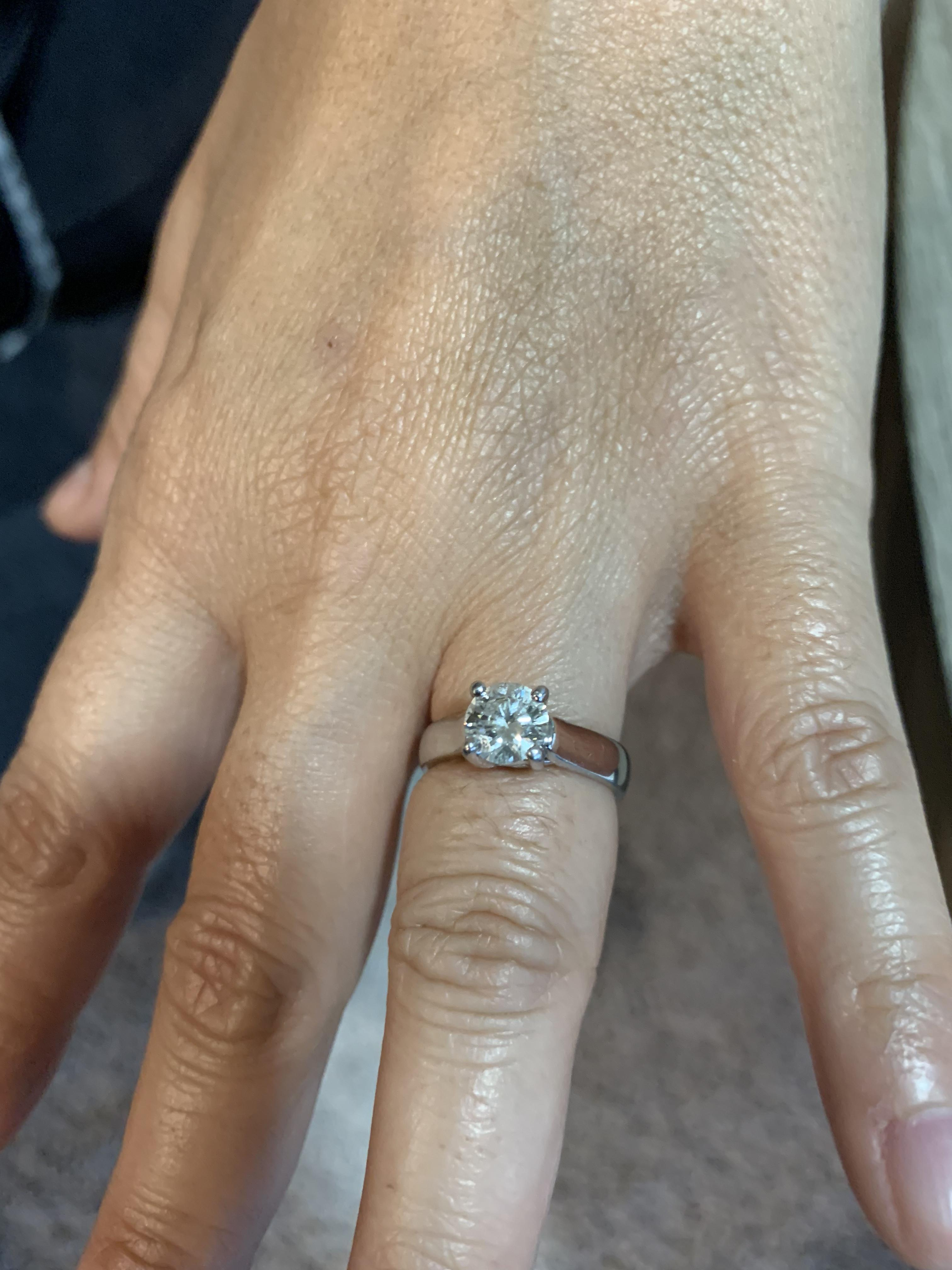 1 Carat Solitaire Engagement Ring I Do Now I Don T